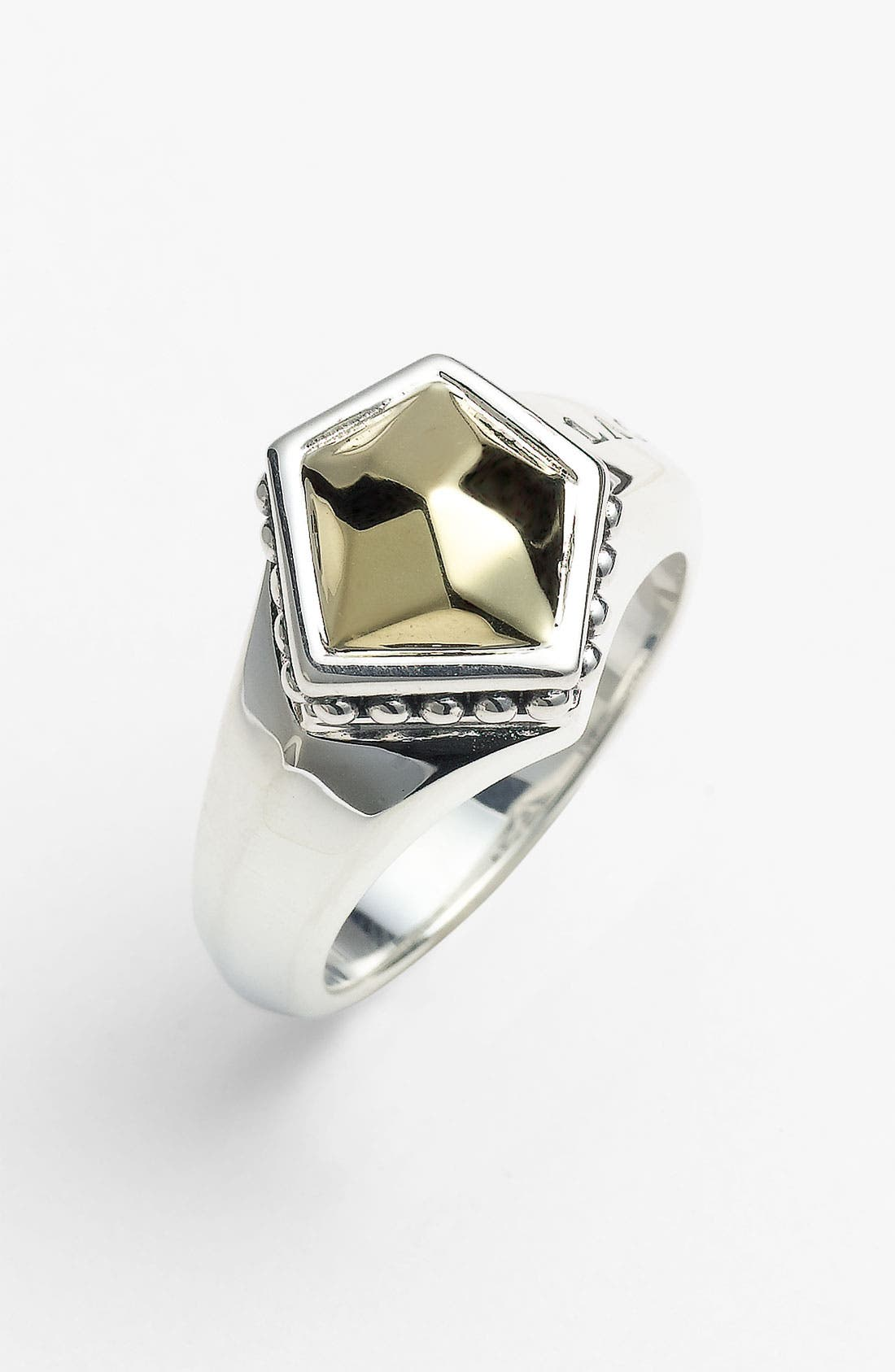 Alternate Image 1 Selected - LAGOS 'Rocks' Small Angled Two Tone Ring