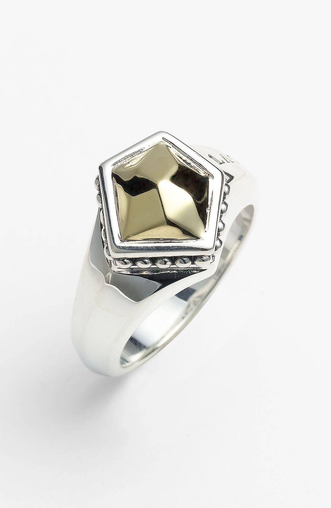Main Image - LAGOS 'Rocks' Small Angled Two Tone Ring