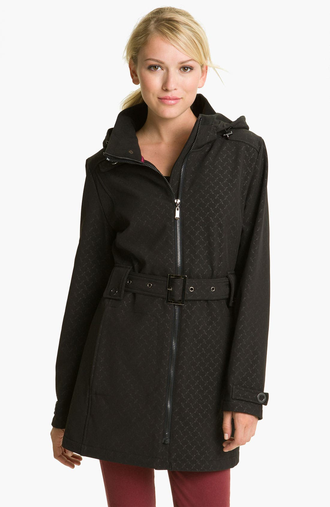 Main Image - Weatherproof® Belted Fleece Lined Coat (Online Exclusive)
