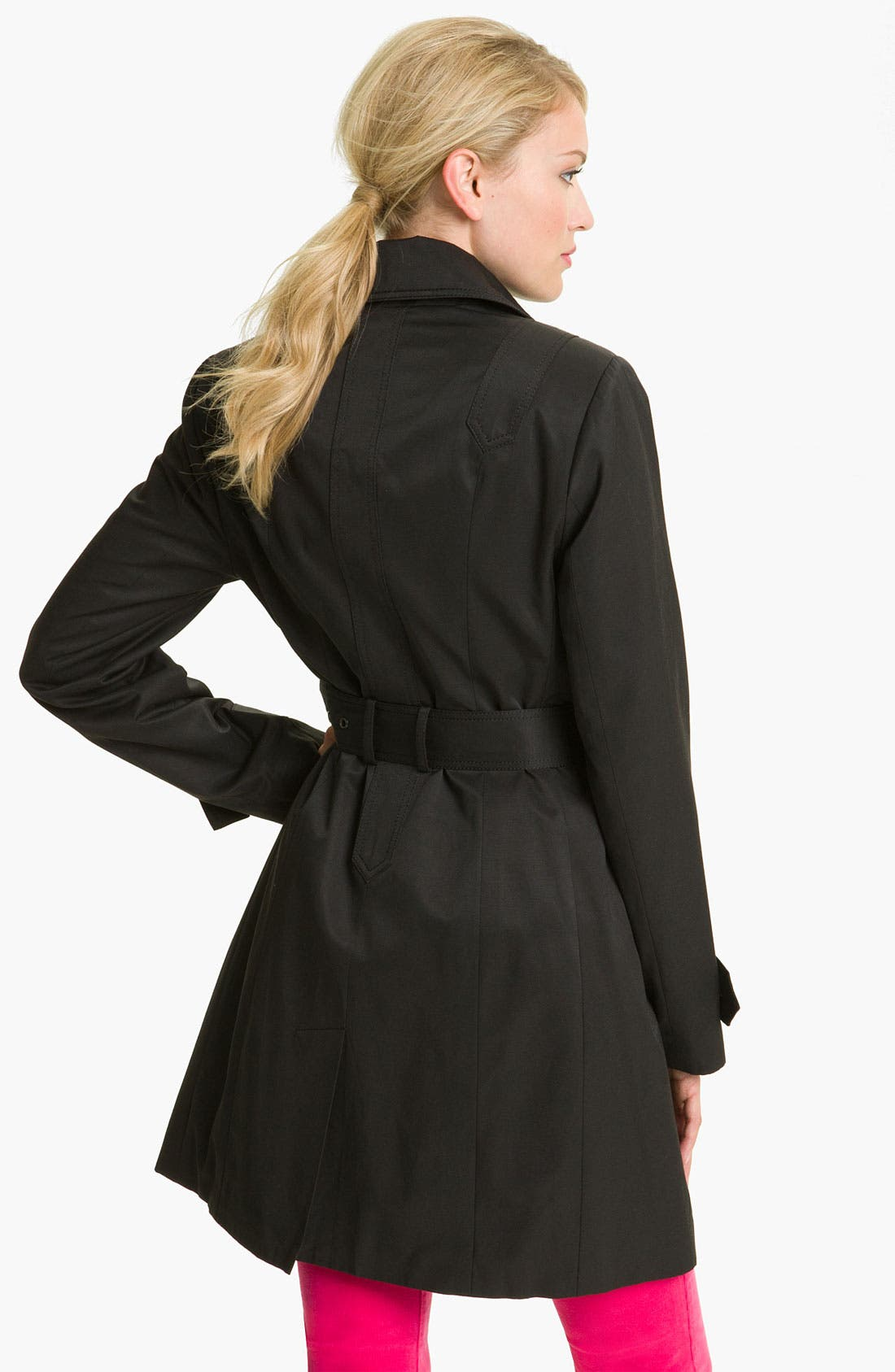 Alternate Image 2  - Vince Camuto Double Pocket Belted Trench