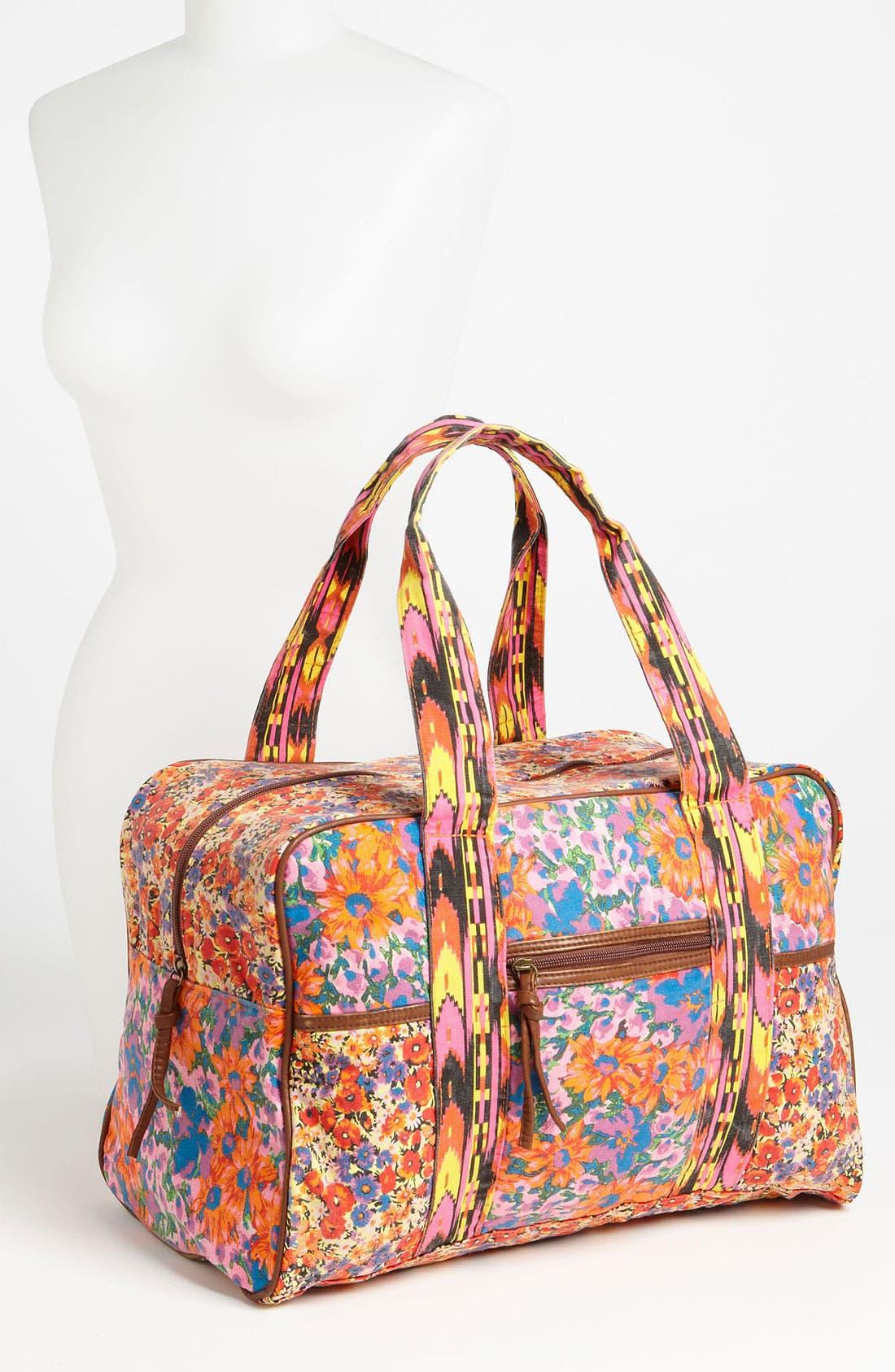 Alternate Image 4  - Lulu Mix Print Duffel Bag (Juniors)