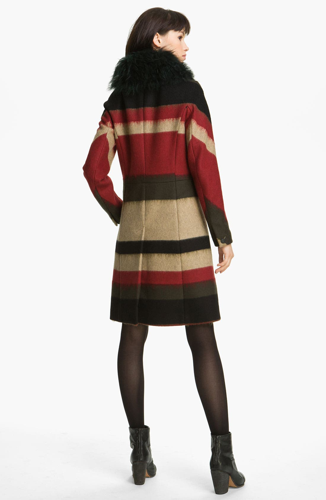 Alternate Image 2  - rag & bone 'Winsor' Stripe Coat with Removable Shearling Collar
