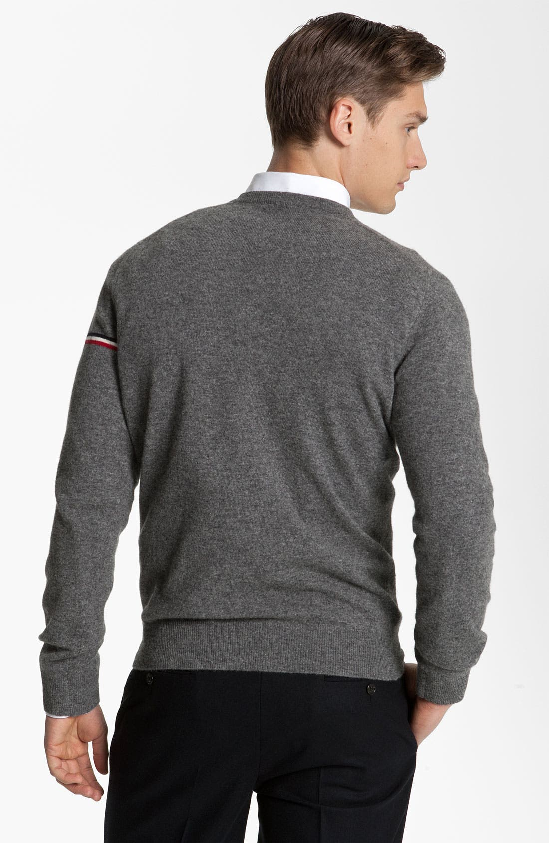 Alternate Image 2  - Moncler Wool V-Neck Sweater