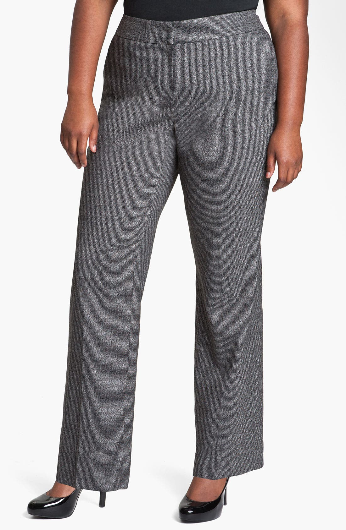 Alternate Image 1 Selected - Sejour Herringbone Suit Trousers (Plus)