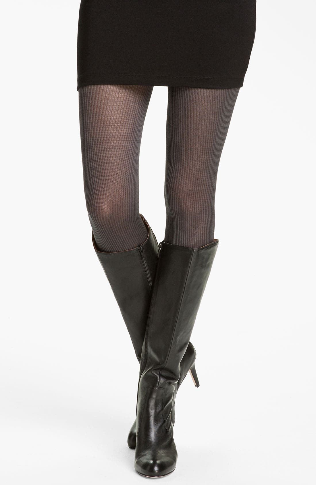 Main Image - Donna Karan Fine Ribbed Tights