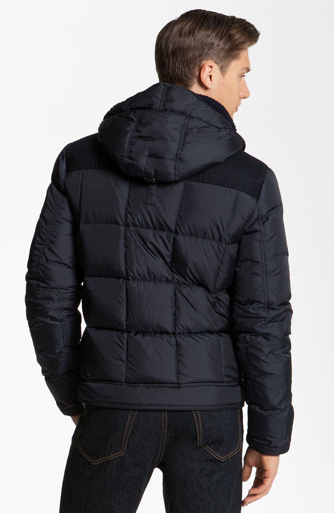 Alternate Image 2  - Moncler 'Virgile' Hooded Quilted Bomber Jacket
