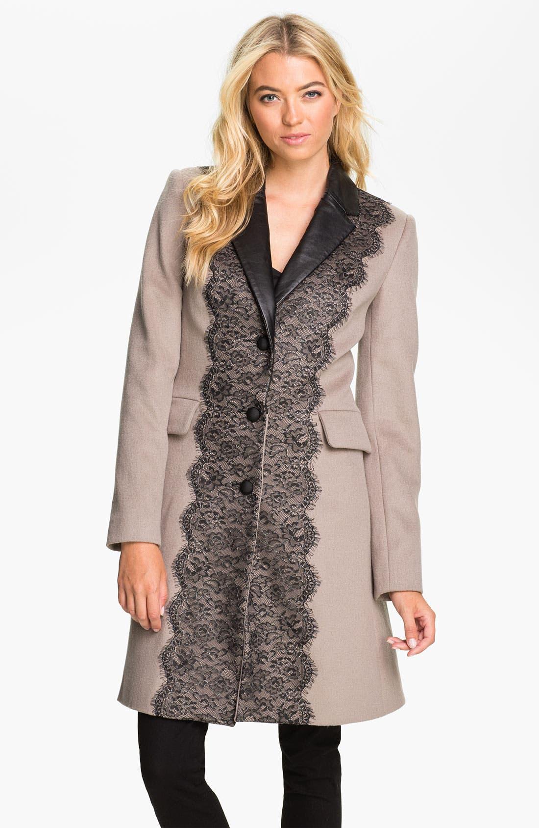 Alternate Image 1 Selected - Badgley Mischka 'Madeline' Coat