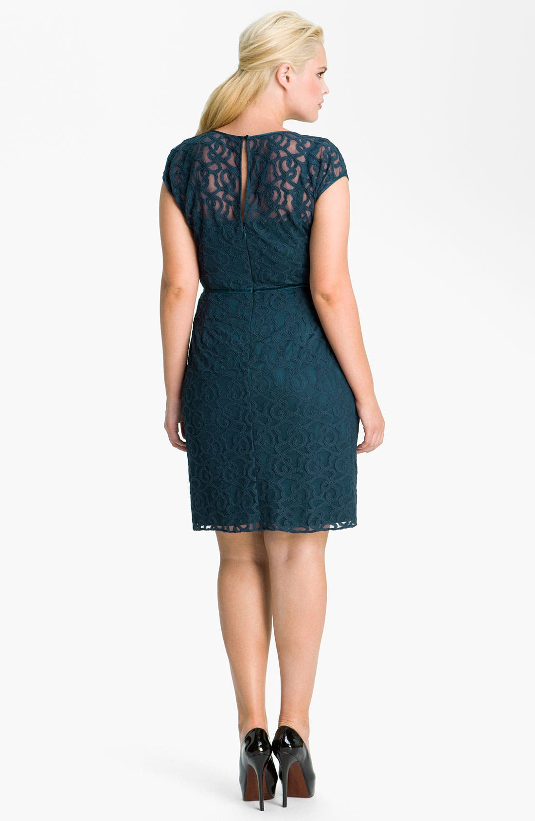 Alternate Image 2  - Adrianna Papell Soutache Illusion Bodice Dress (Plus Size)