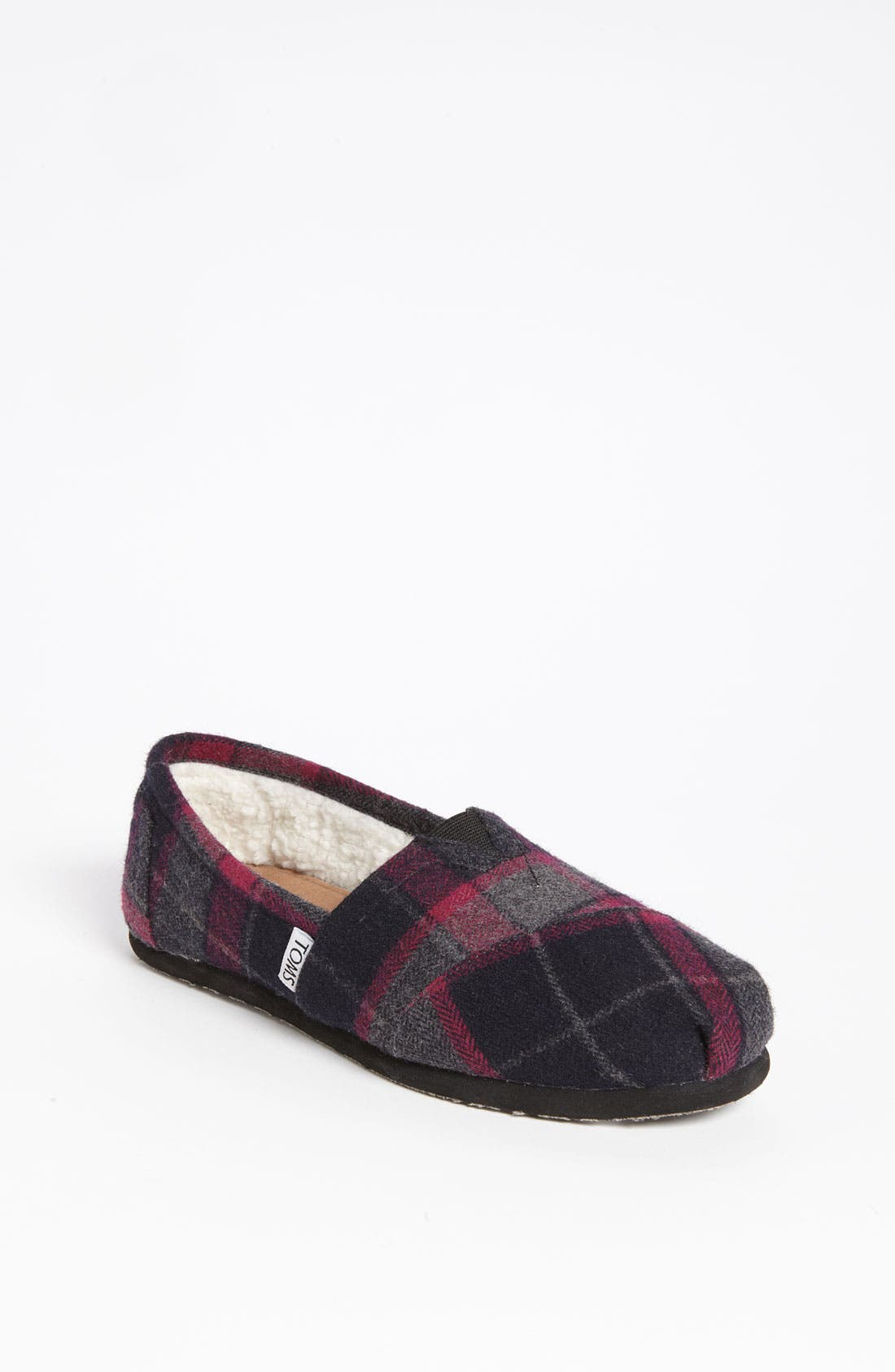 Alternate Image 1 Selected - TOMS 'Classic - Plaid' Wool Slip-On