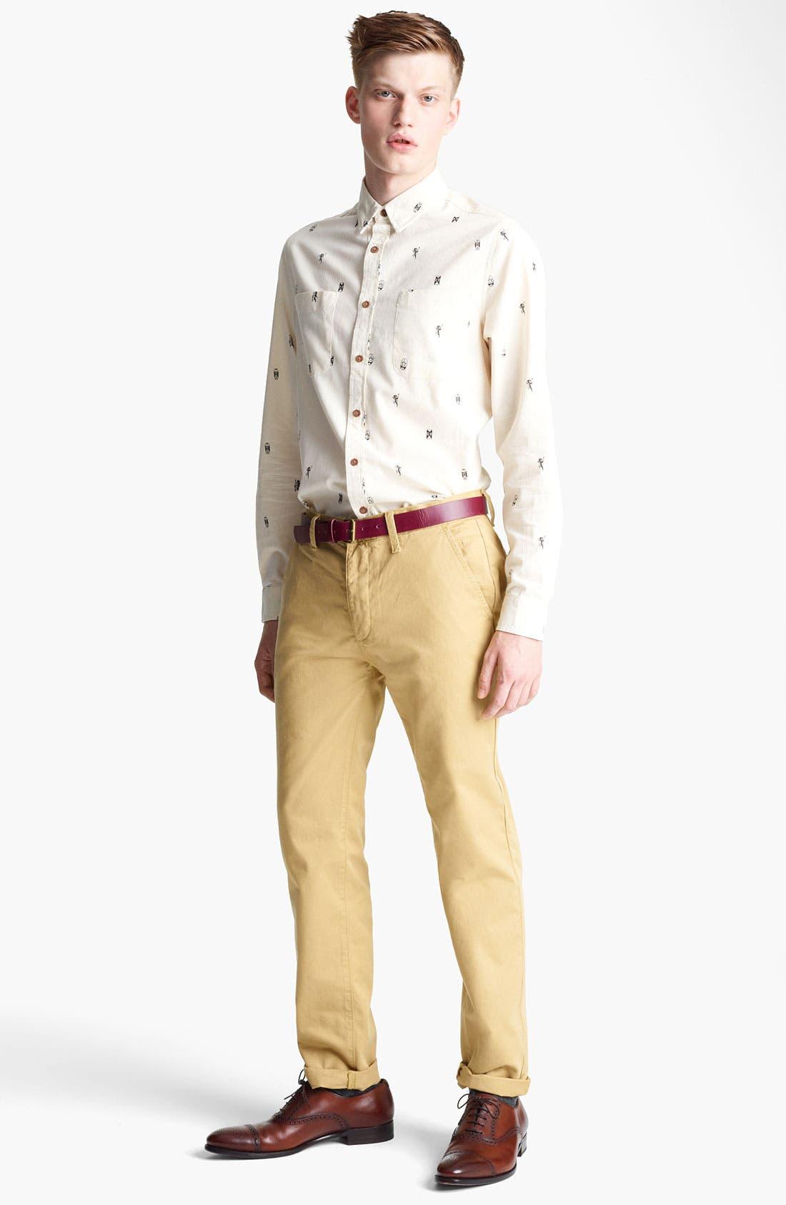 Alternate Image 4  - Topman 'Tiki Man' Woven Shirt