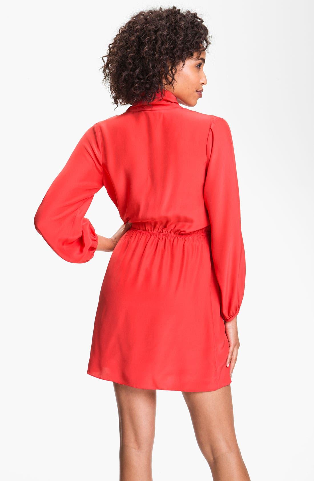 Alternate Image 2  - ALICE & TRIXIE 'Joyce' Surplice Silk Blouson Dress