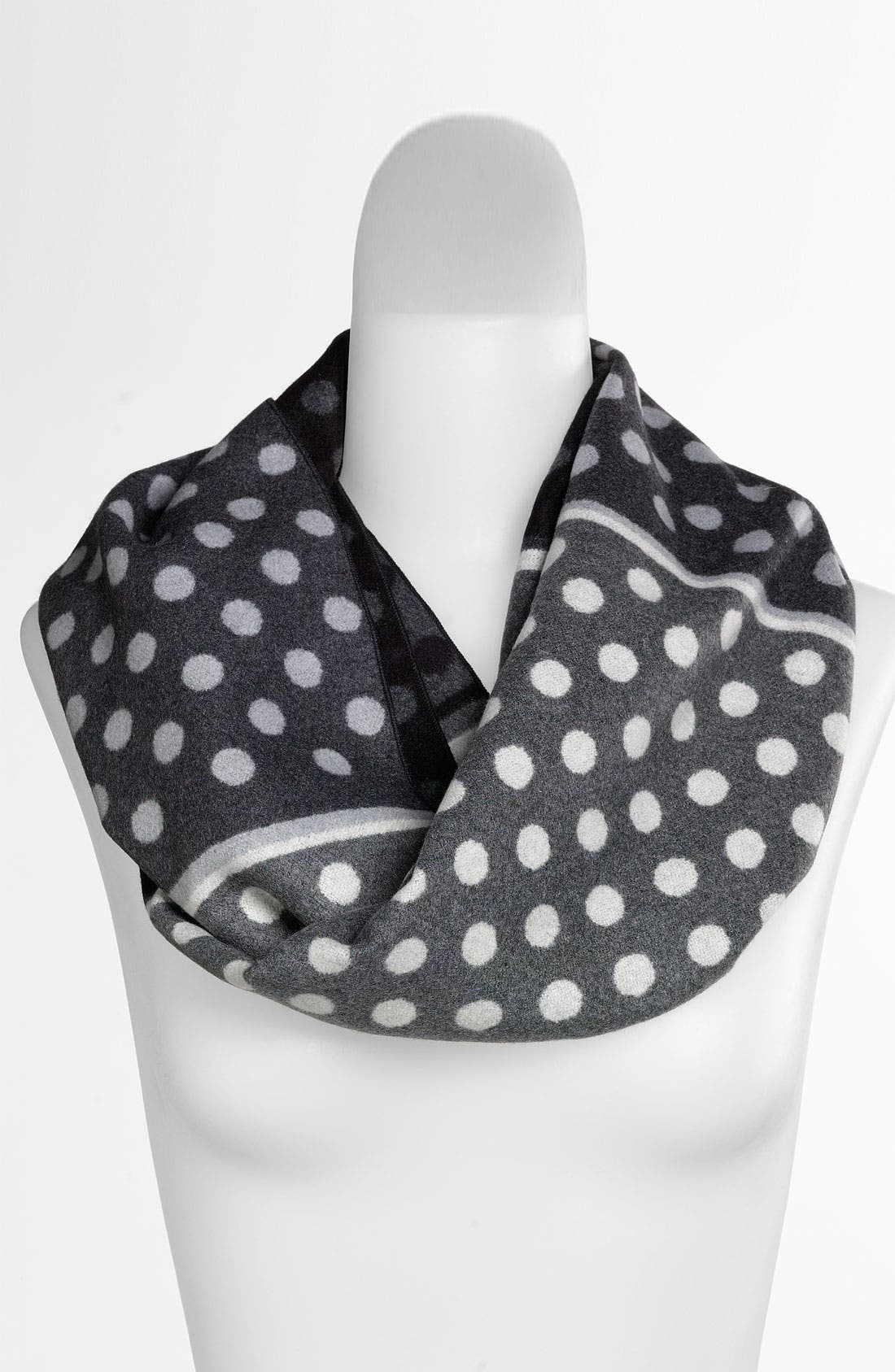 Alternate Image 1 Selected - Chelsey Imports Multi Dot Woven Silk Infinity Scarf