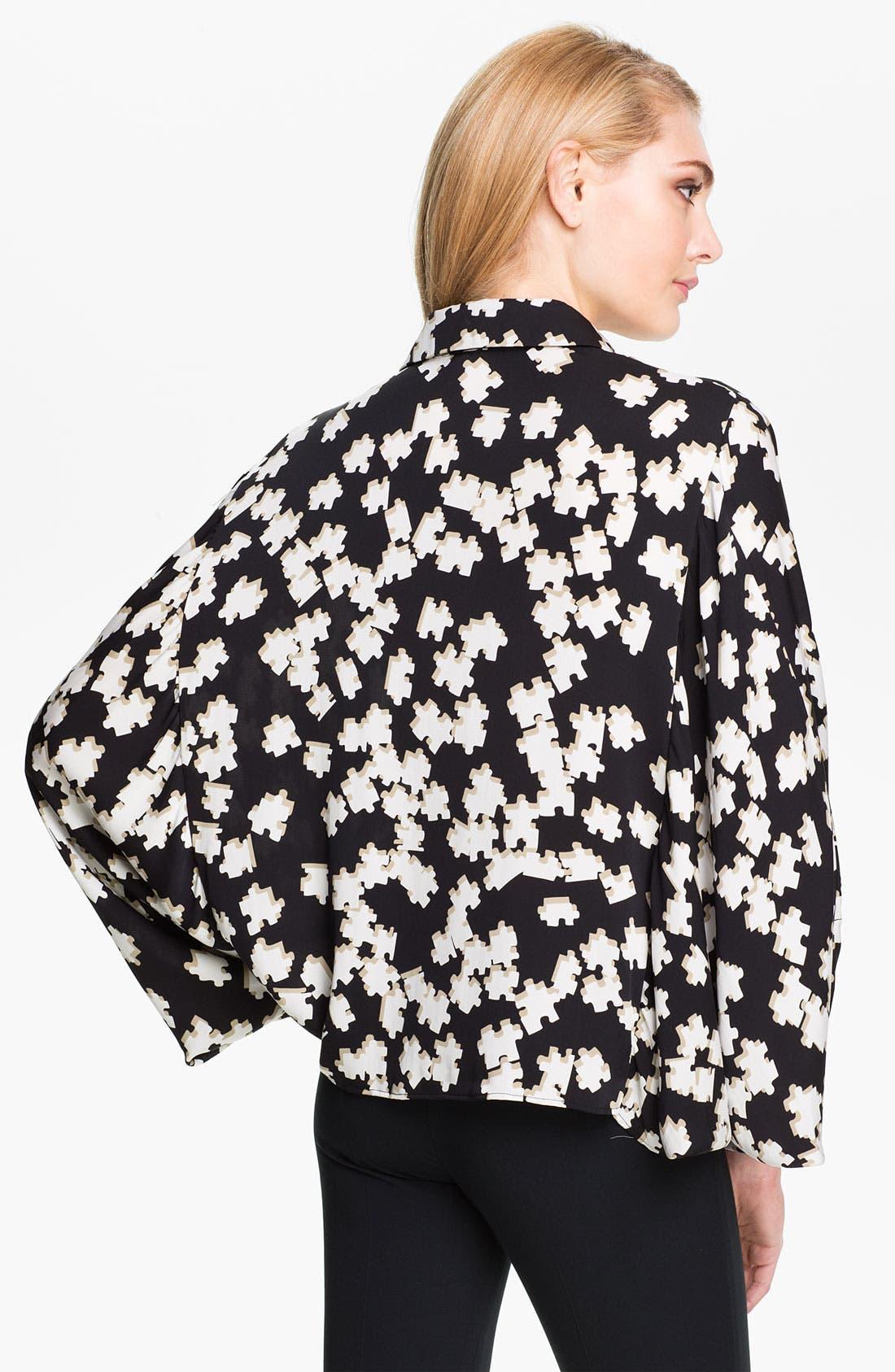 Alternate Image 2  - Diane von Furstenberg 'Mali Strggt' Print Stretch Silk Blouse