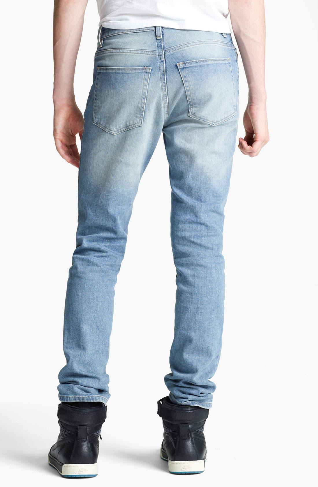 Alternate Image 2  - Topman 'Lome' Skinny Jeans (Light)