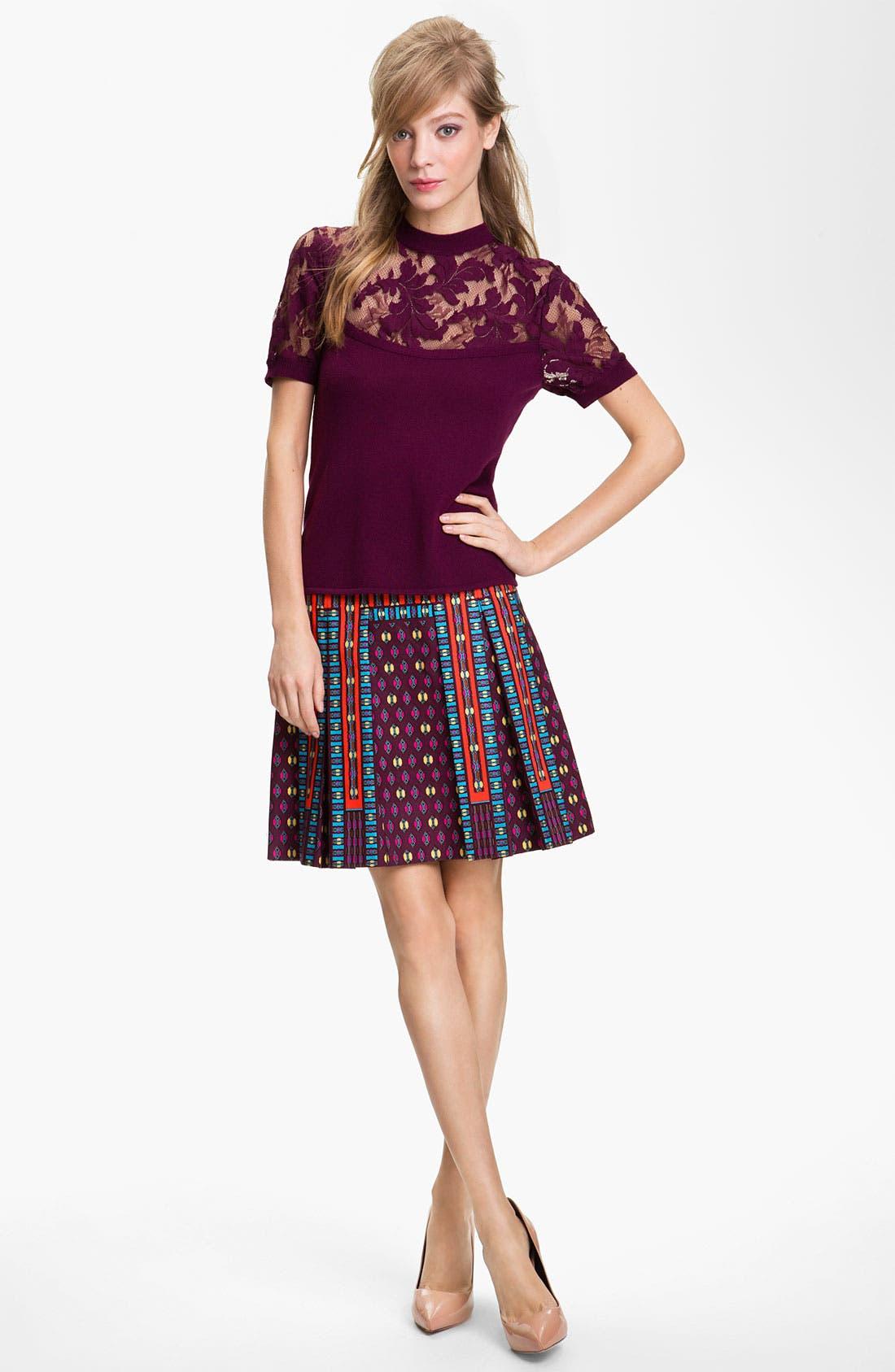 Alternate Image 4  - Nanette Lepore 'Universe' Pleated A-Line Skirt