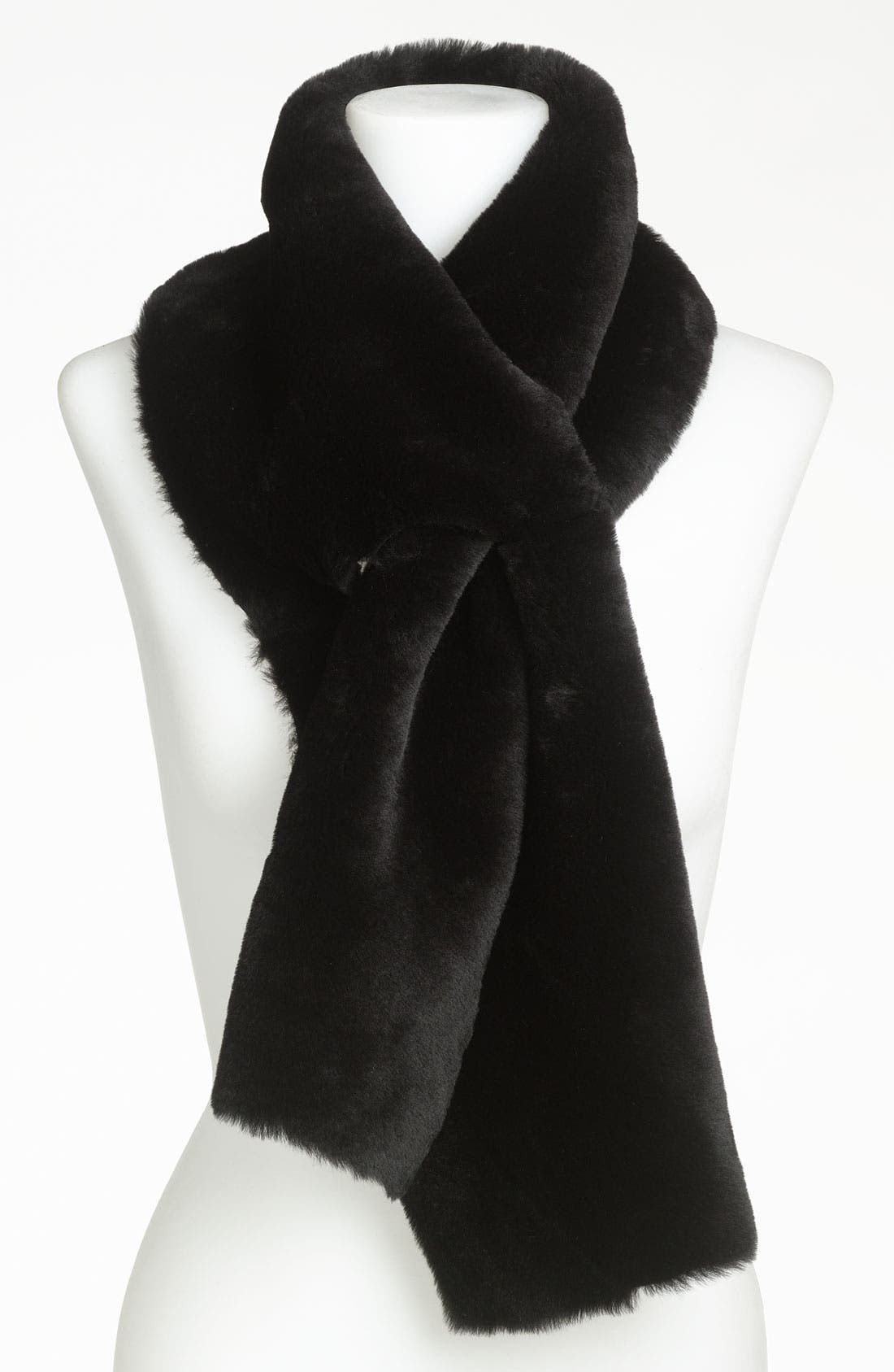 Main Image - UGG® Australia Classic Shearling 4-Panel Scarf