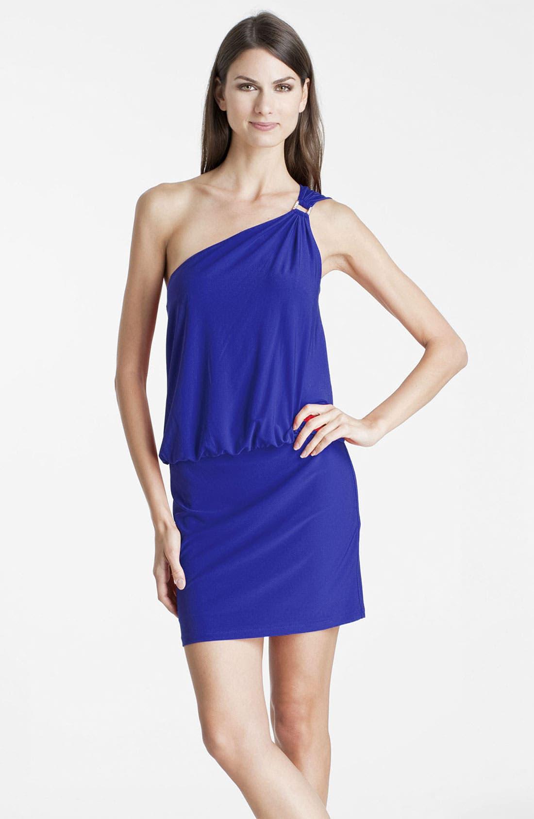 Alternate Image 1 Selected - JS Boutique One Shoulder Jersey Dress