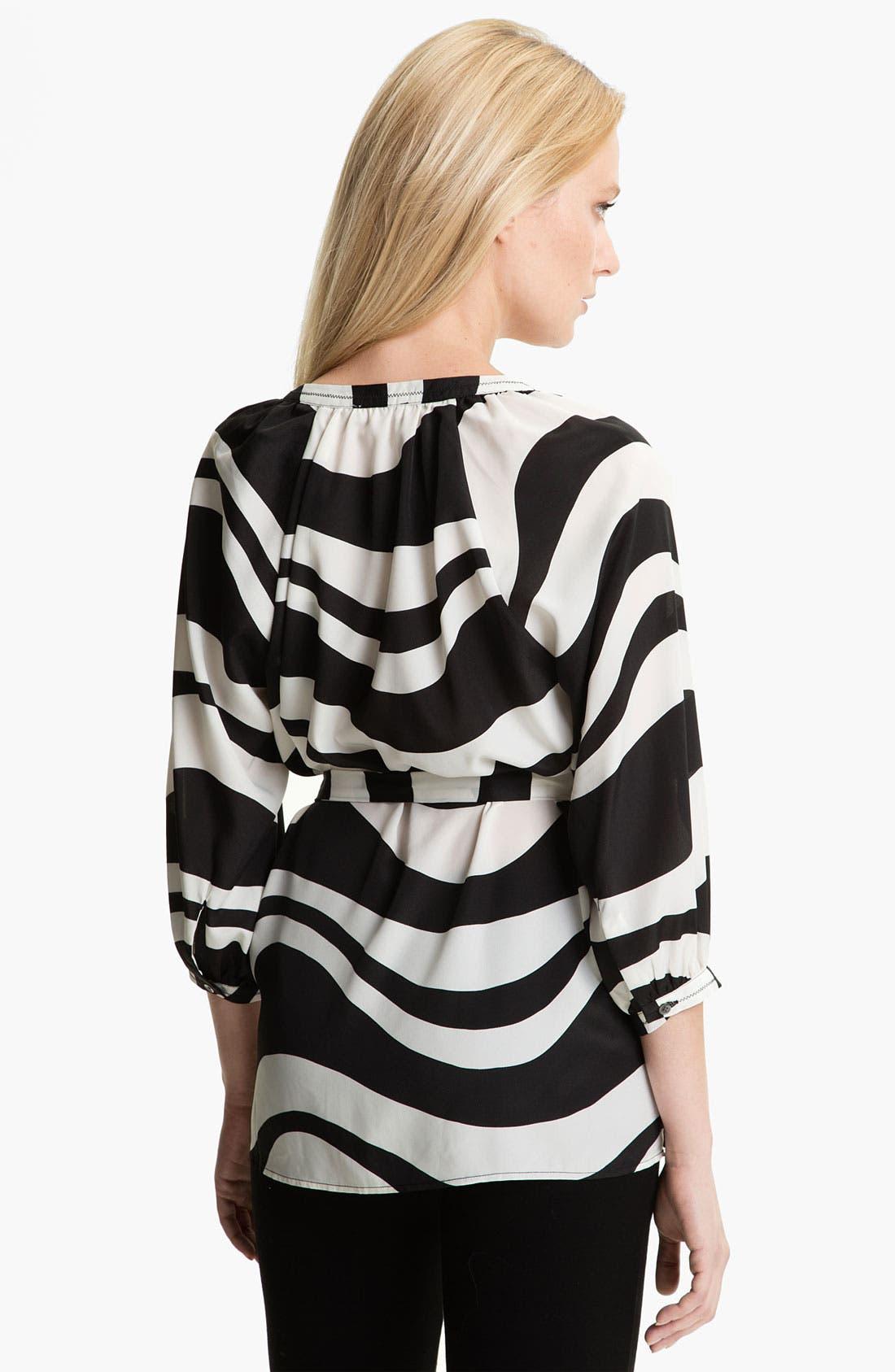 Alternate Image 2  - Isaac Mizrahi Jeans 'Effie' Zebra Print Blouse