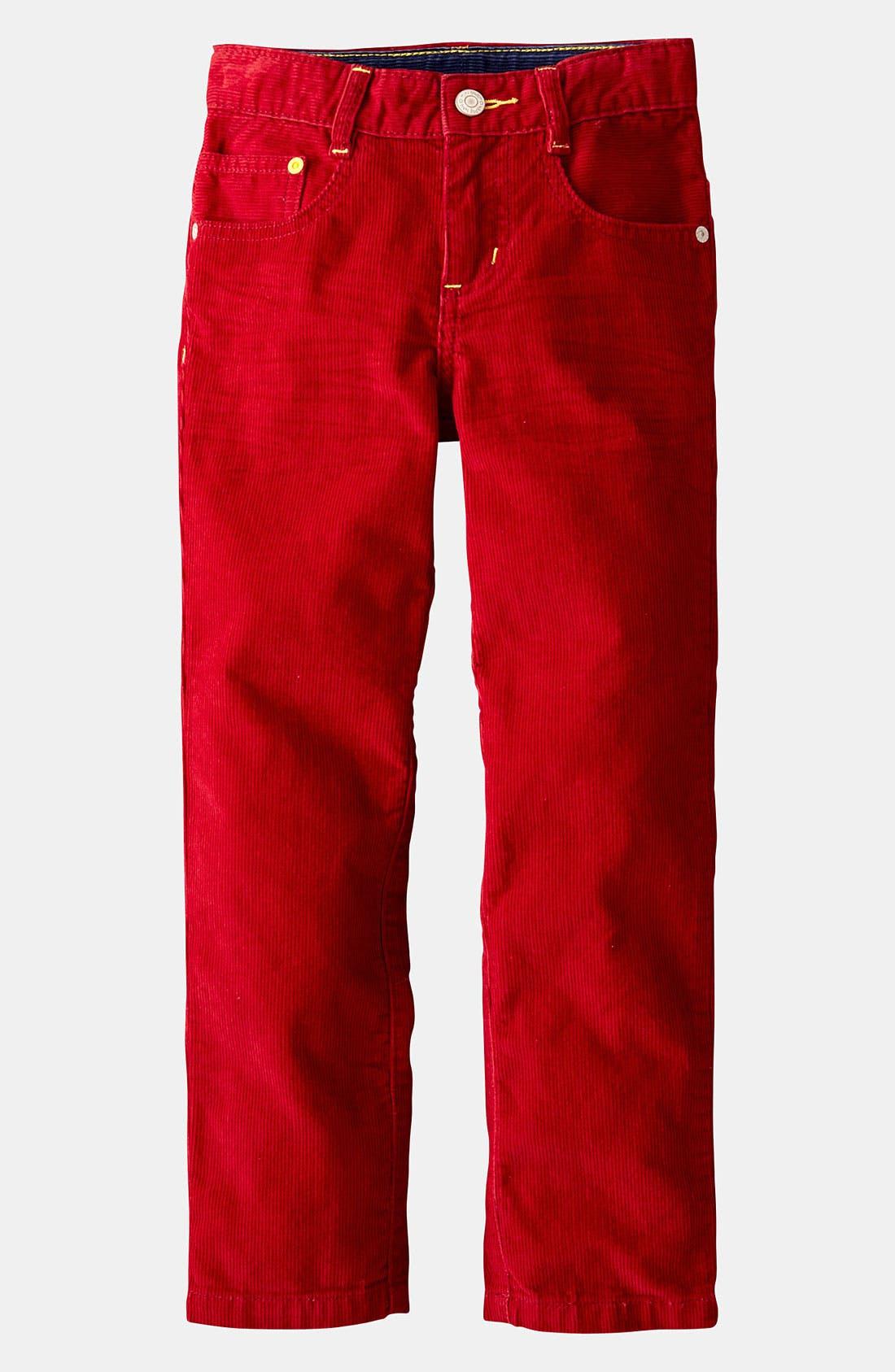 Main Image - Mini Boden 'Preppy' Slim Corduroy Pants (Toddler)