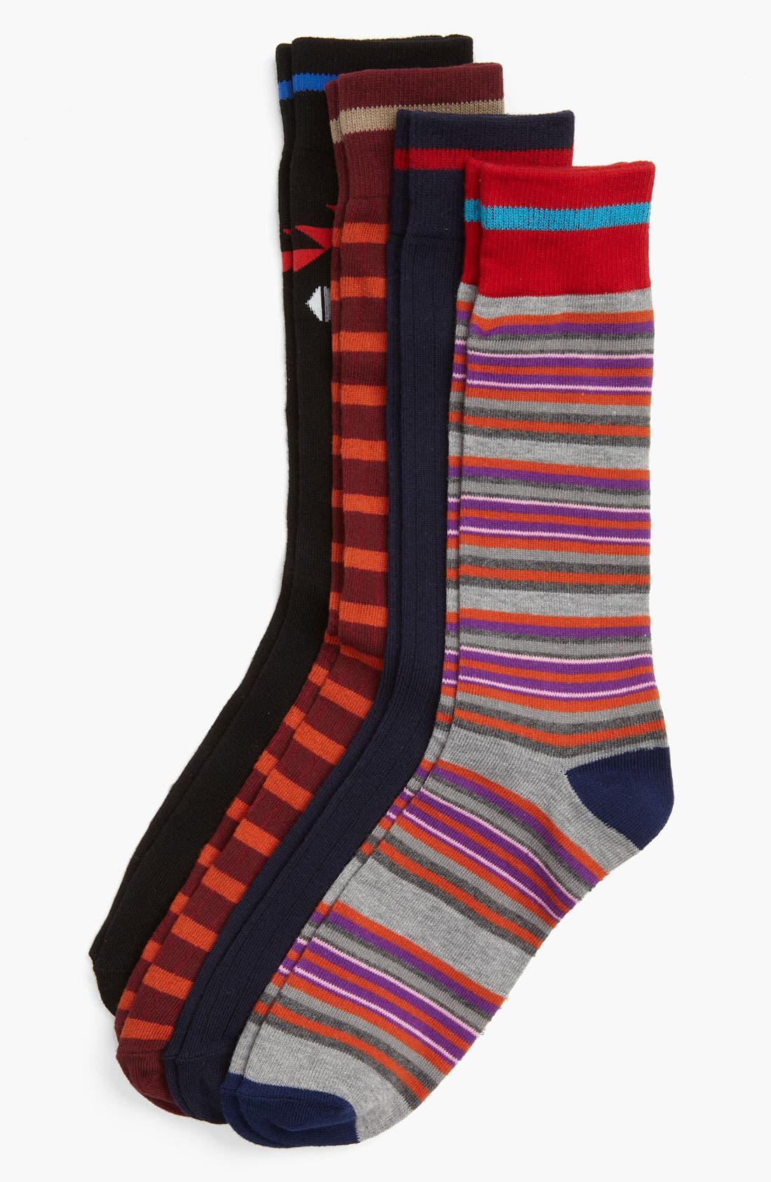 Alternate Image 1 Selected - Basic Sock Socks (4-Pack)