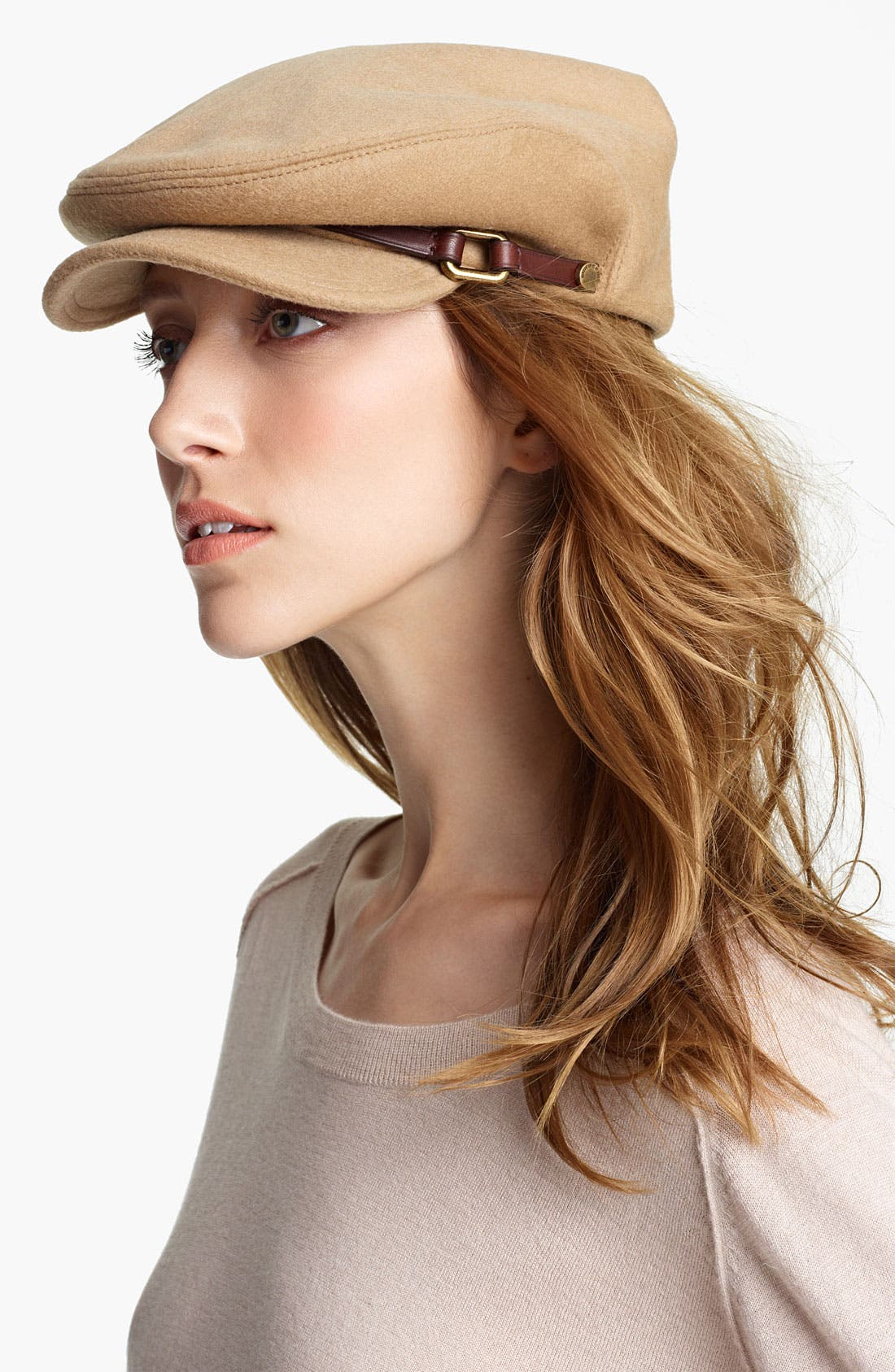 Main Image - Burberry Wool & Cashmere Flat Cap