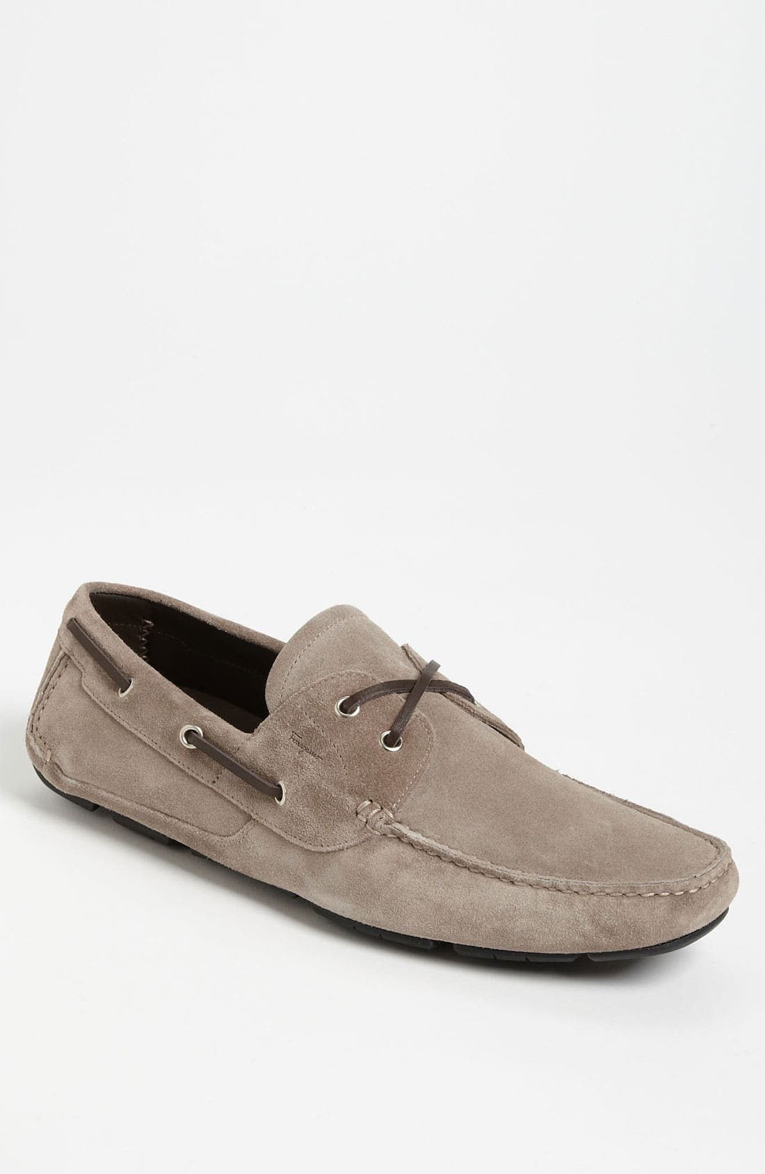 Alternate Image 1 Selected - Salvatore Ferragamo 'Anthony' Suede Driving Shoe