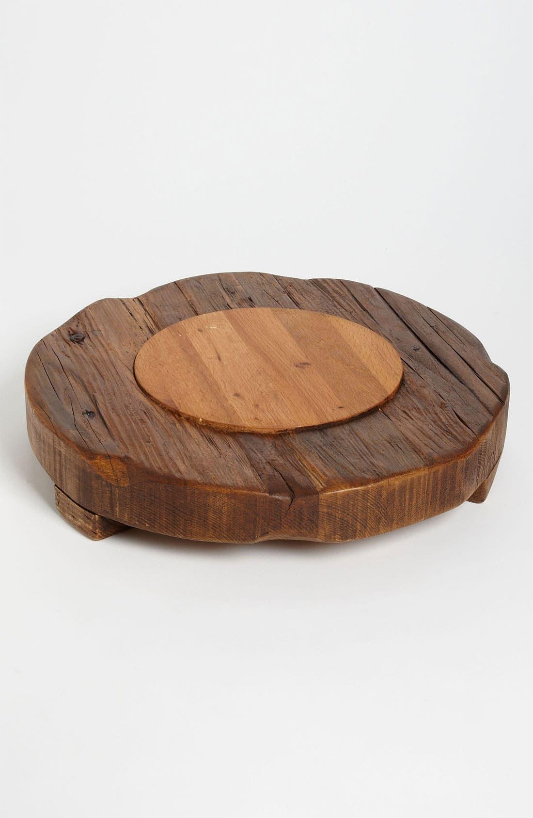 Alternate Image 1 Selected - Europe2You Round Hardwood Inset Trivet