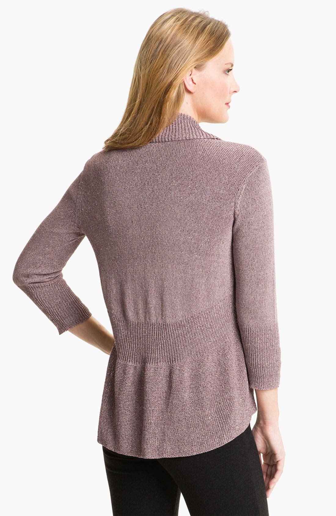 Alternate Image 2  - Eileen Fisher Ribbed Ruffle Cardigan