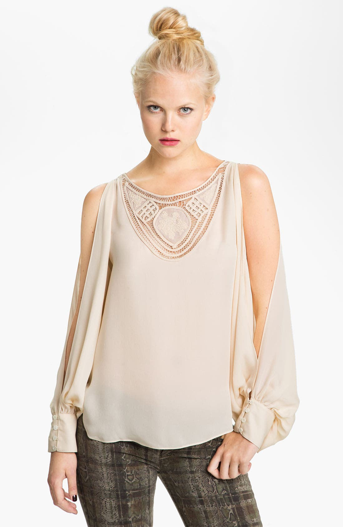 Alternate Image 1 Selected - Haute Hippie Split Sleeve Blouse