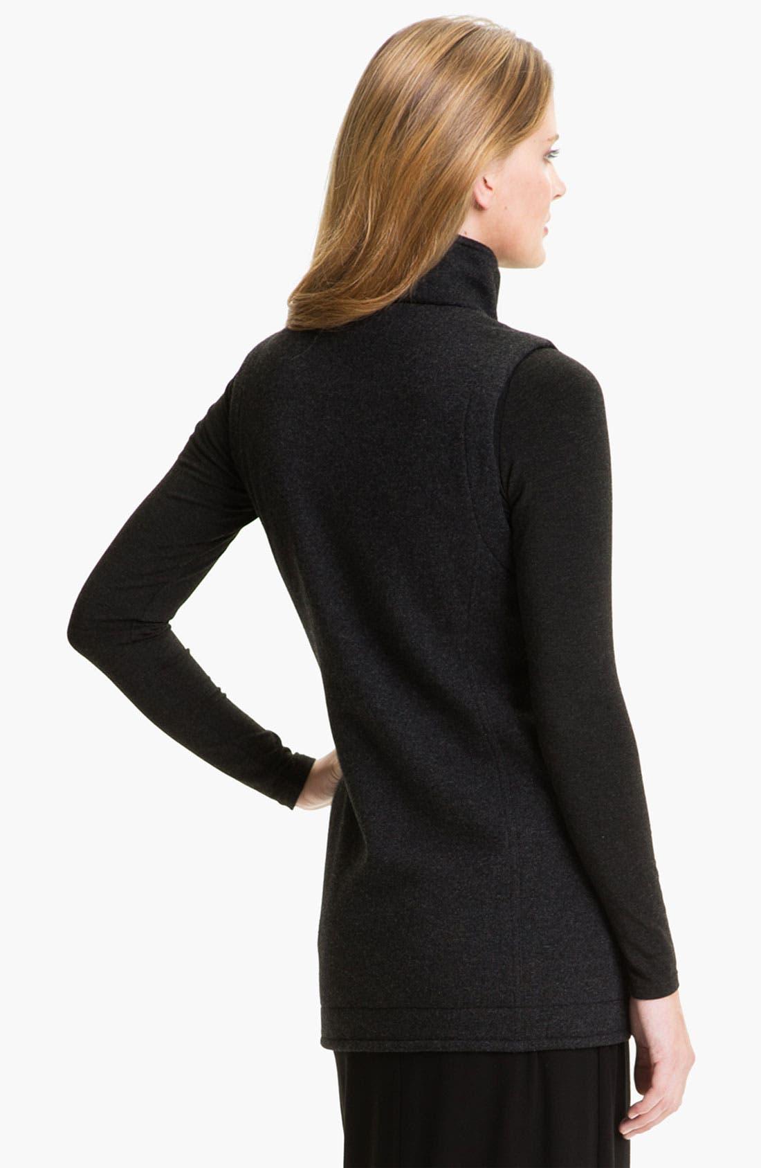 Alternate Image 2  - Eileen Fisher 'Fluffy Fleece' Long Vest