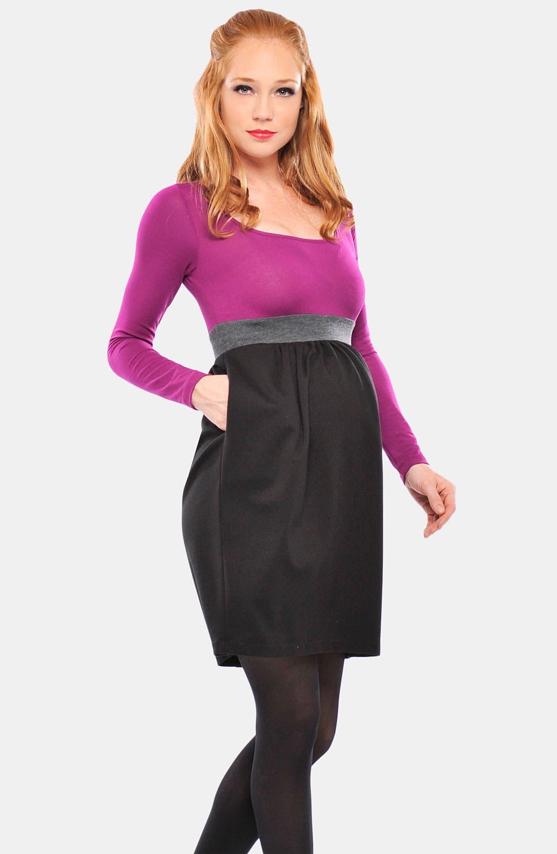 Alternate Image 1 Selected - Olian 'Kate' Straight Leg Woven Maternity Pants