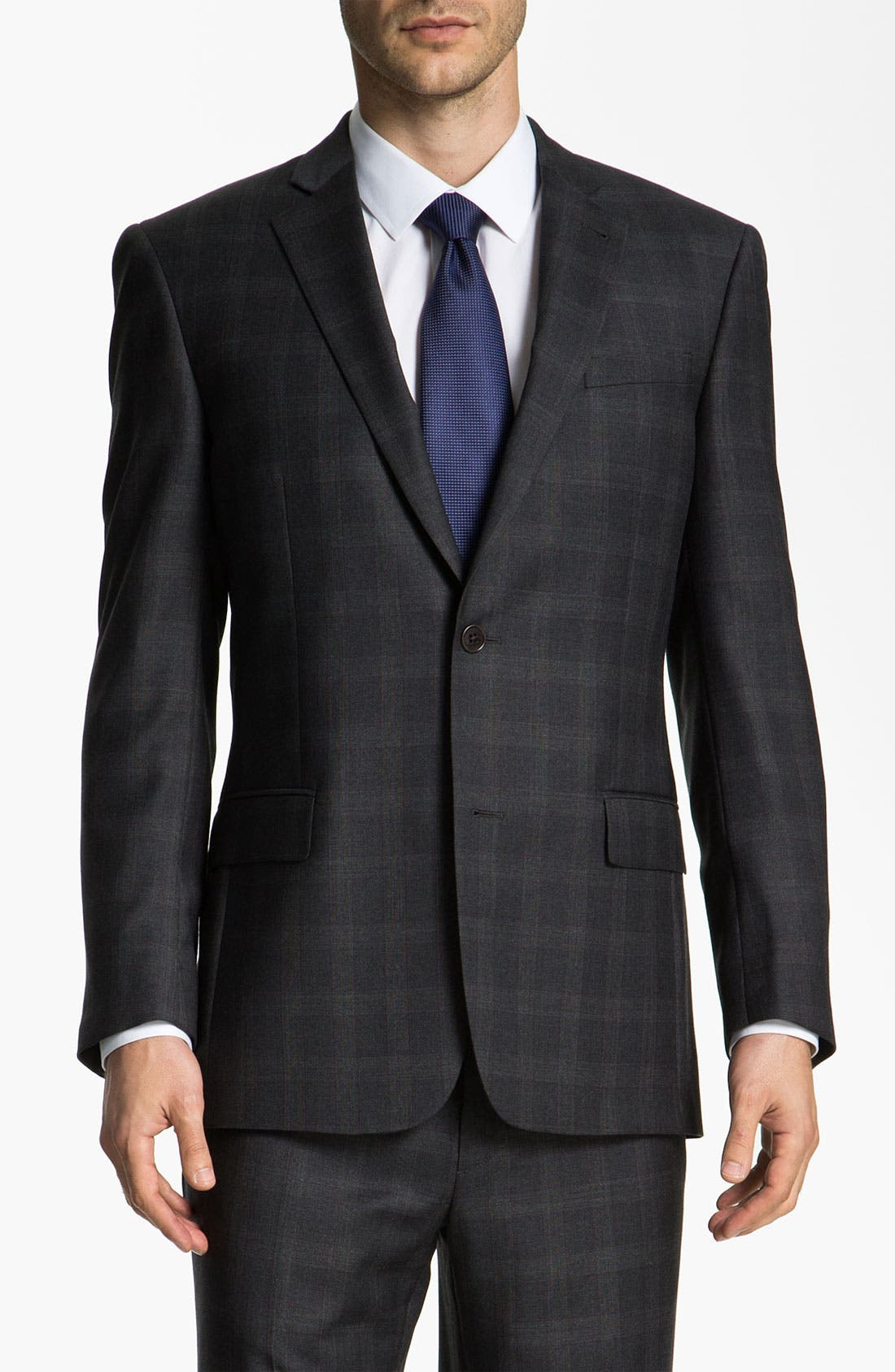 Main Image - John Varvatos Star USA 'Bedford' Trim Fit Plaid Suit