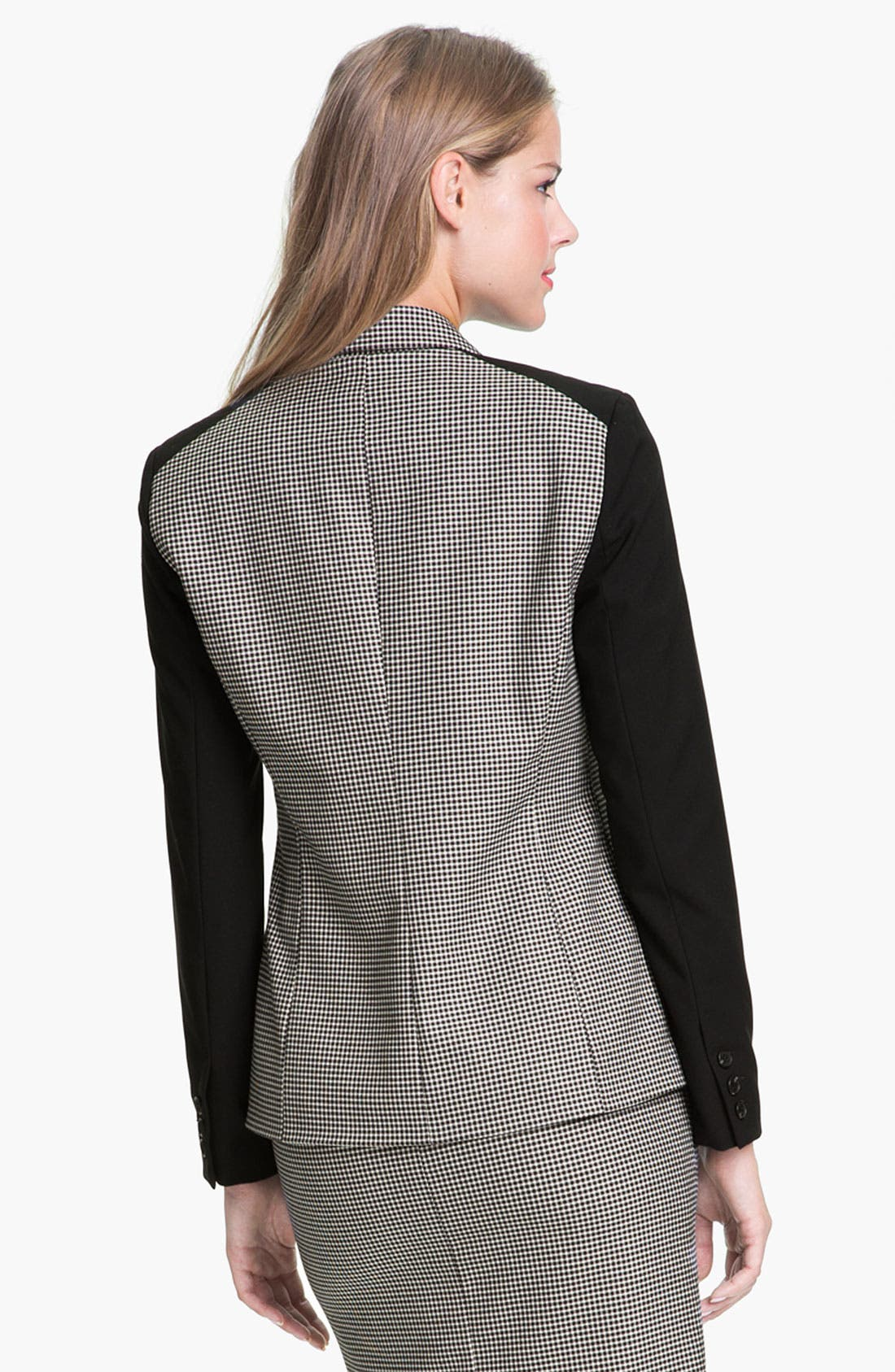Alternate Image 2  - Vince Camuto Colorblock Houndstooth Blazer