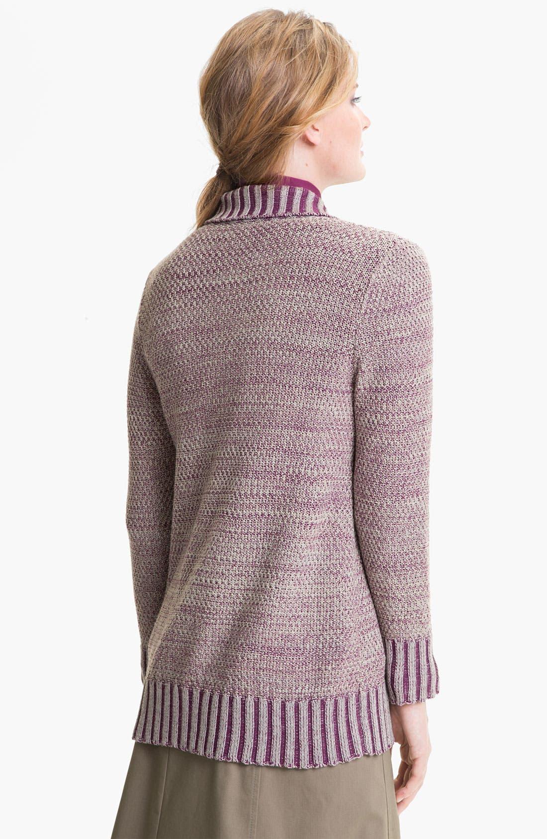 Alternate Image 2  - Lafayette 148 New York Tab Closure Sweater