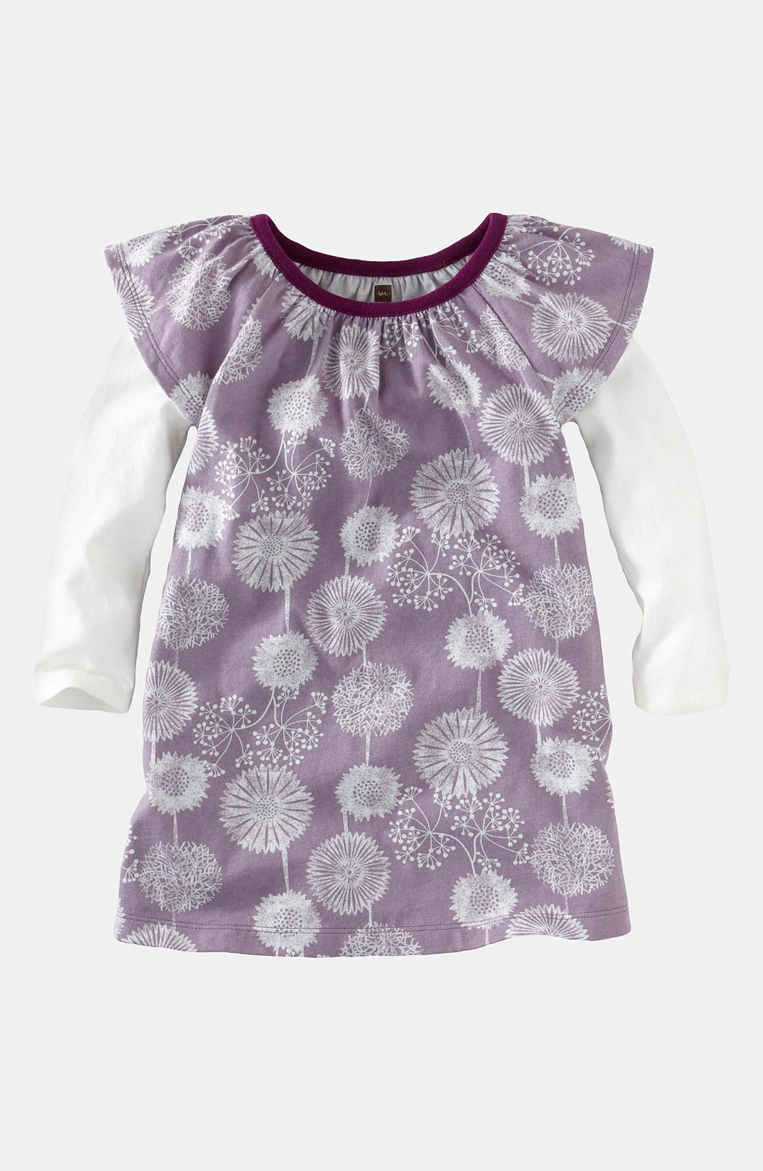 Main Image - Tea Collection 'Svenska Wildflower' Layered Sleeve Dress (Toddler)