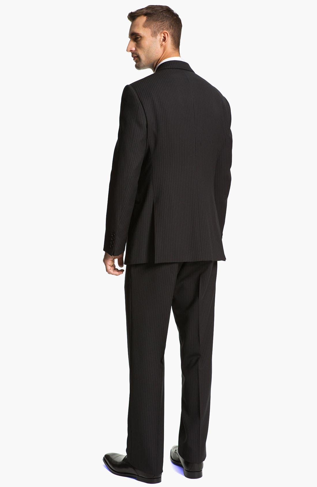 Alternate Image 3  - Armani Collezioni 'Giorgio' Trim Fit Stripe Suit