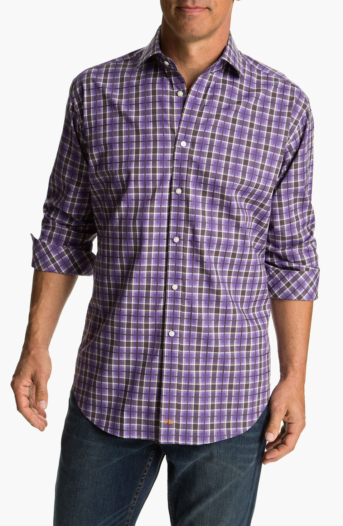 Alternate Image 1 Selected - Thomas Dean Regular Fit Sport Shirt