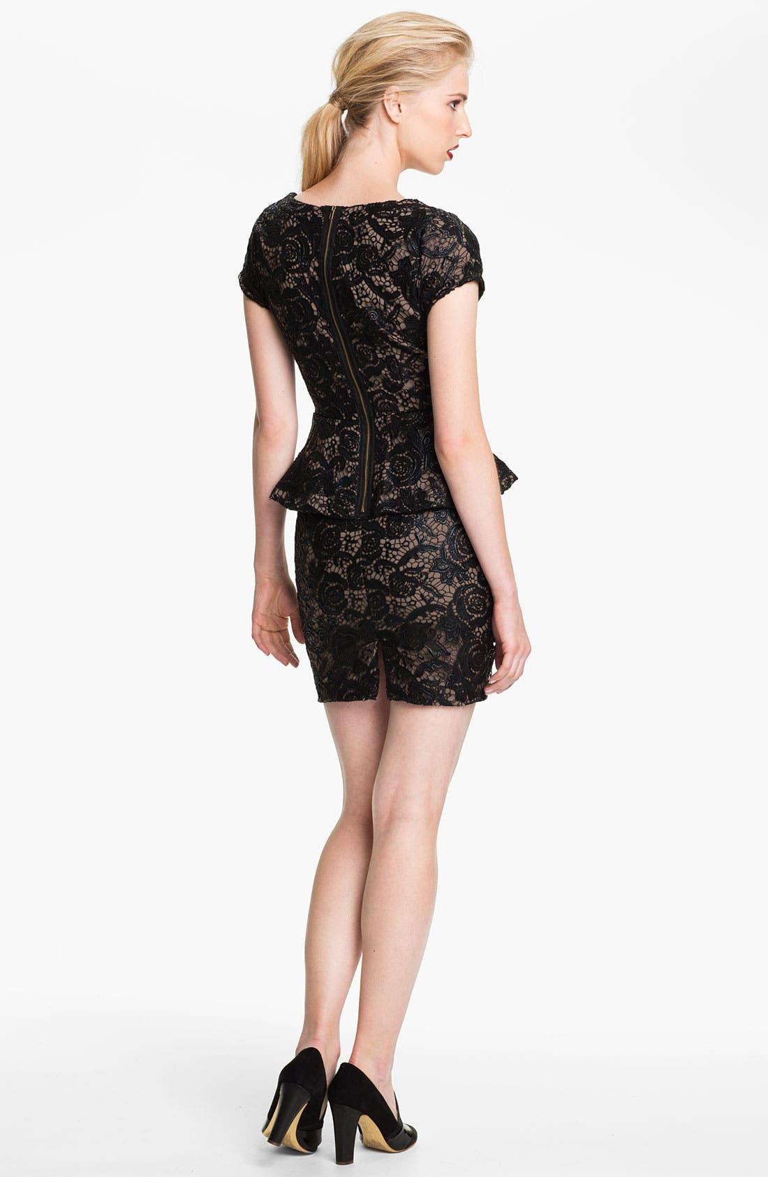 Alternate Image 2  - Tracy Reese Lace Peplum Dress