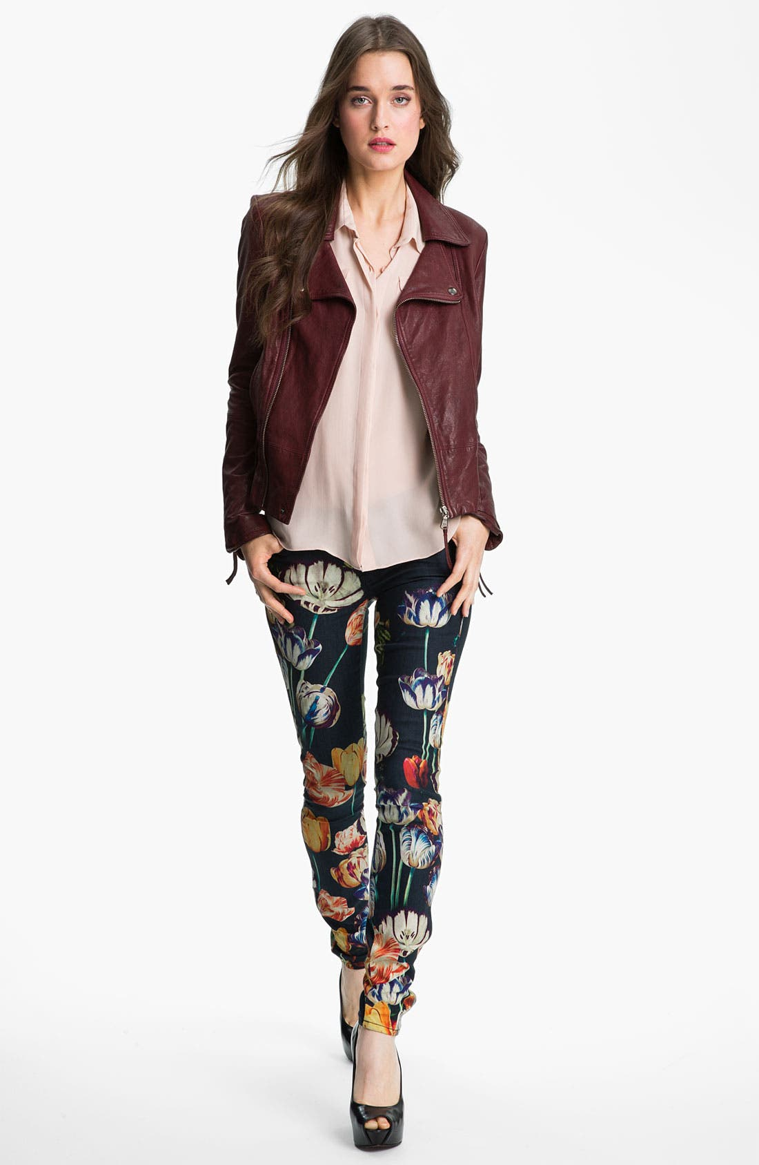 Alternate Image 4  - MOTHER 'The Looker' Print Skinny Jeans (Kissed Me Floral)
