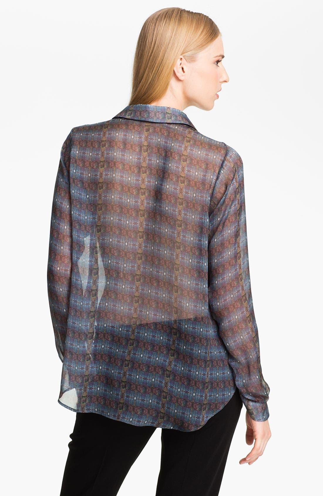 Alternate Image 2  - Theyskens' Theory 'Baronne Ishell' Silk Shirt