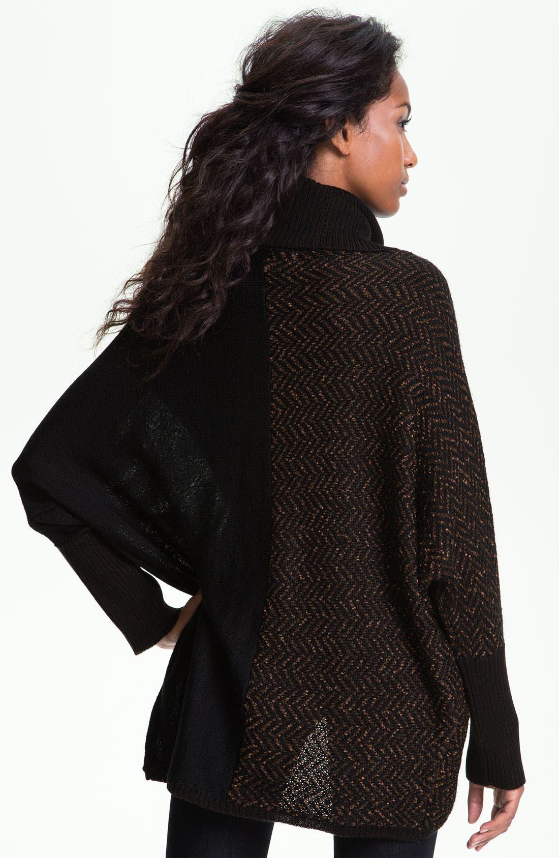 Alternate Image 2  - Curio Faux Wrap Turtleneck Sweater