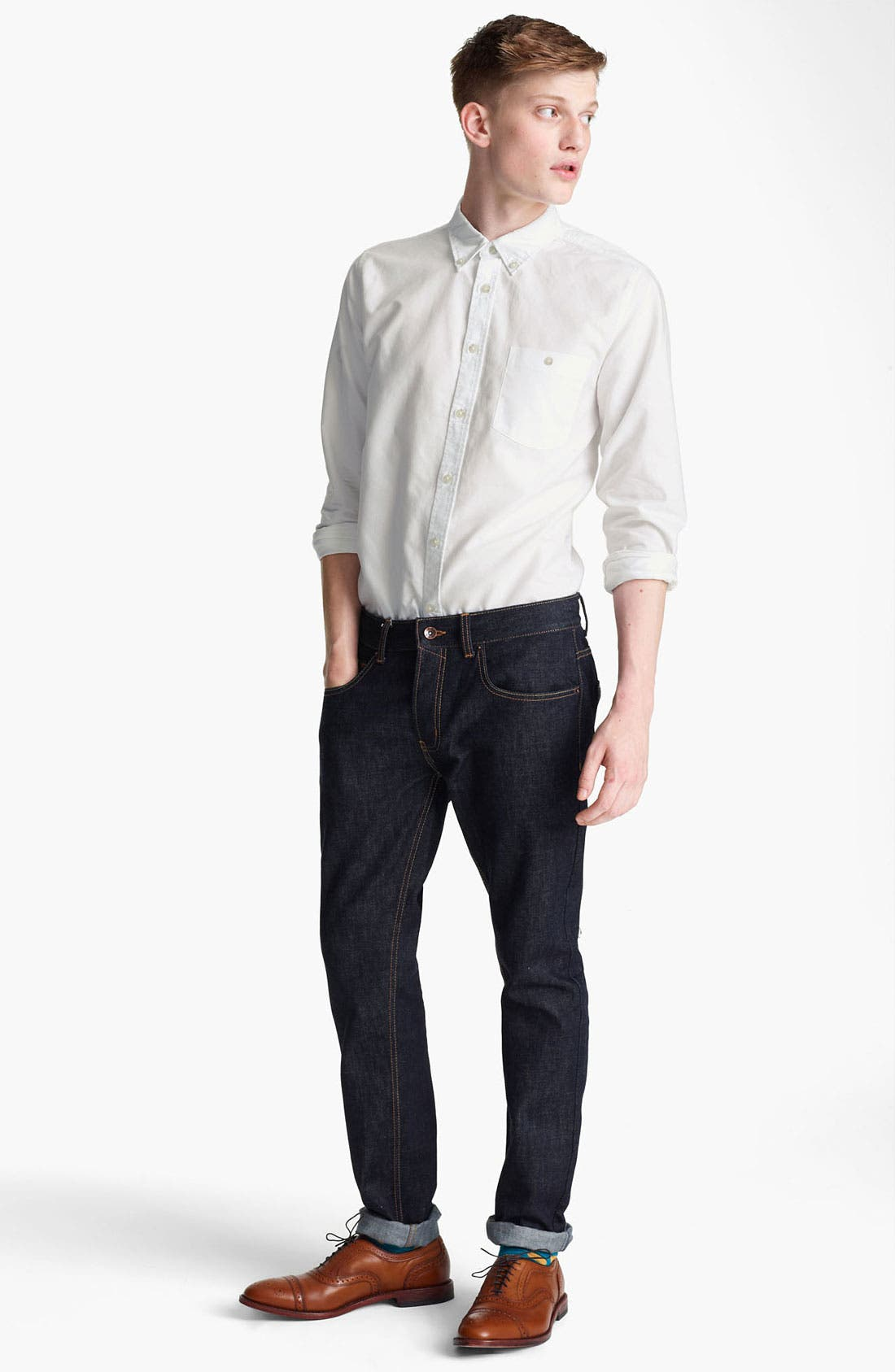 Alternate Image 4  - Topman Oxford Shirt