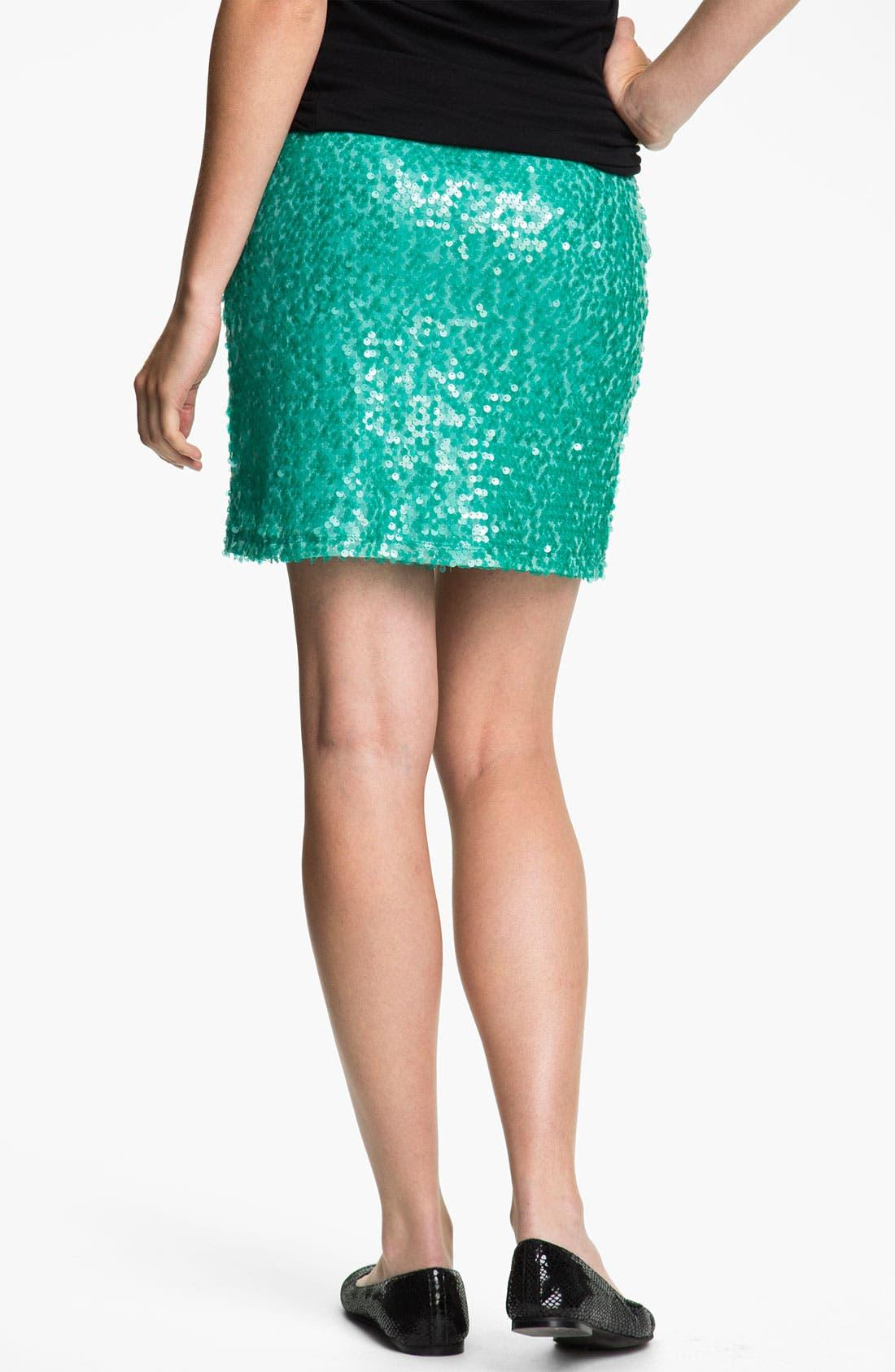 Alternate Image 2  - Mimi Chica Sequin Skirt (Juniors)