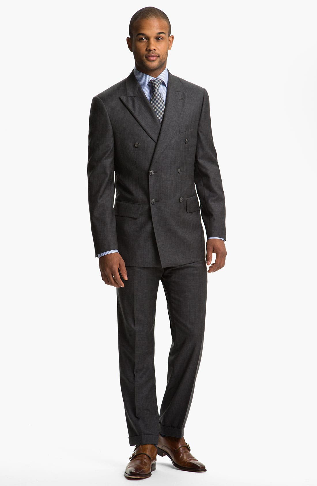 Alternate Image 2  - Joseph Abboud 'Profile' Double Breasted Wool Suit