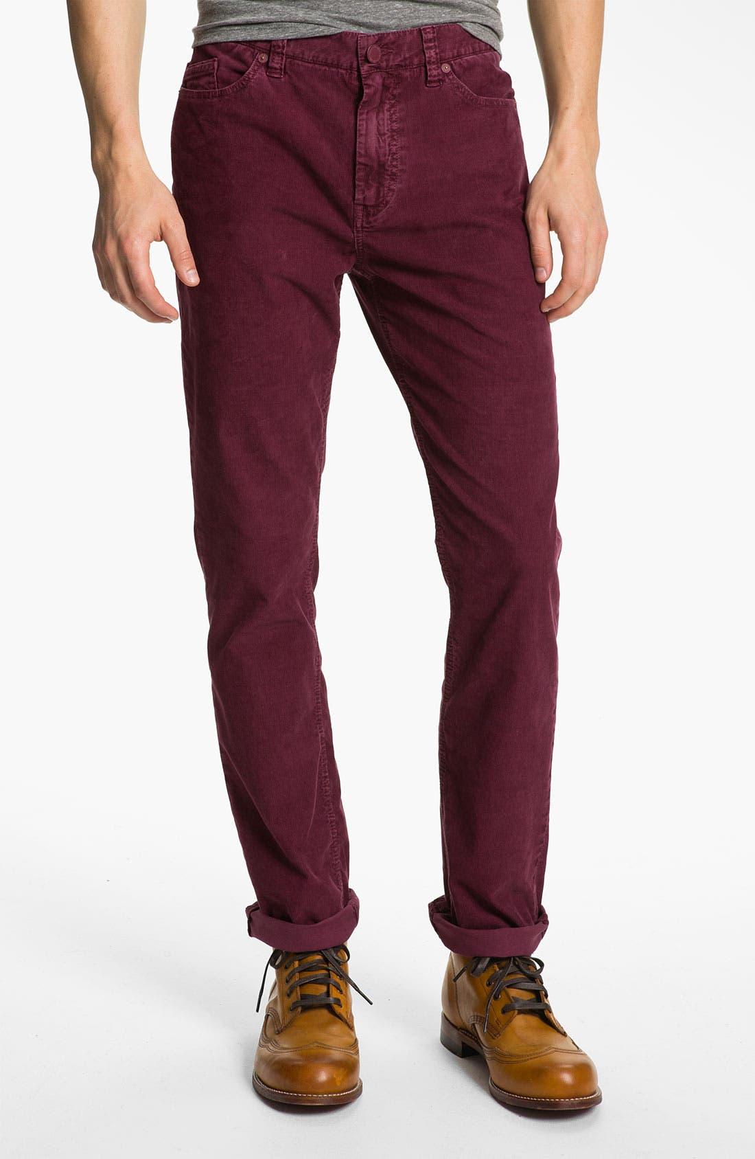 Alternate Image 1 Selected - life/after/denim 'Palermo' Slim Straight Leg Corduroy Pants