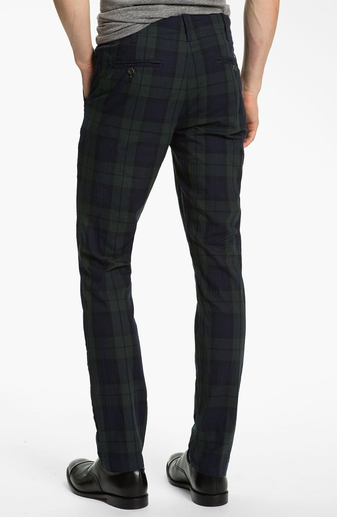 Alternate Image 2  - Just A Cheap Shirt Tartan Plaid Slim Straight Leg Chinos