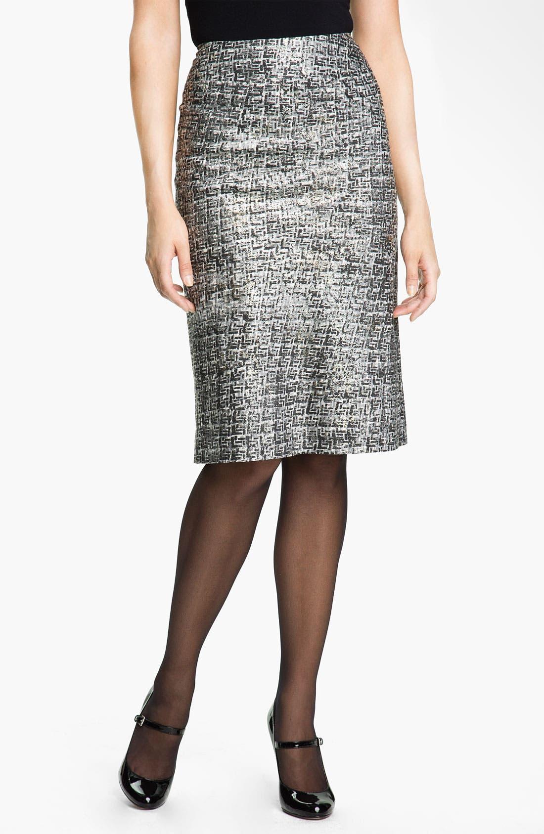 Alternate Image 1 Selected - Nic + Zoe Glitter Print Pencil Skirt
