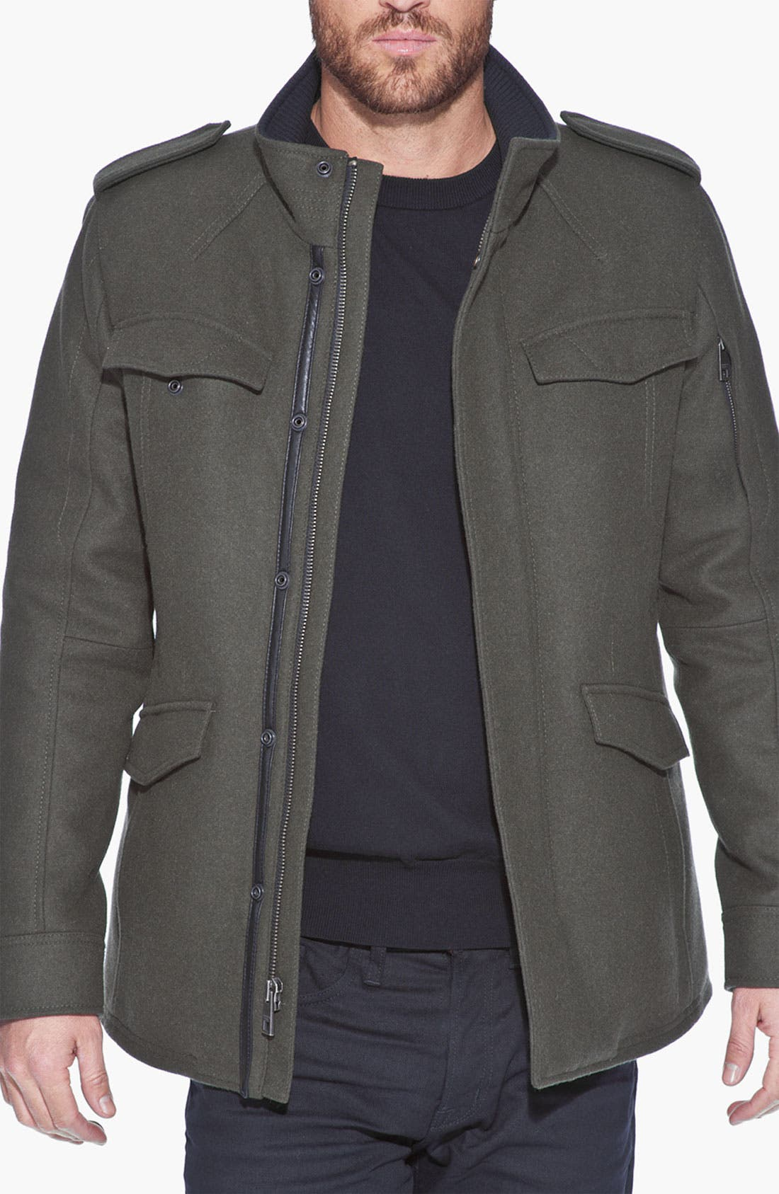 Alternate Image 3  - Andrew Marc 'Fraction' Wool Blend Jacket