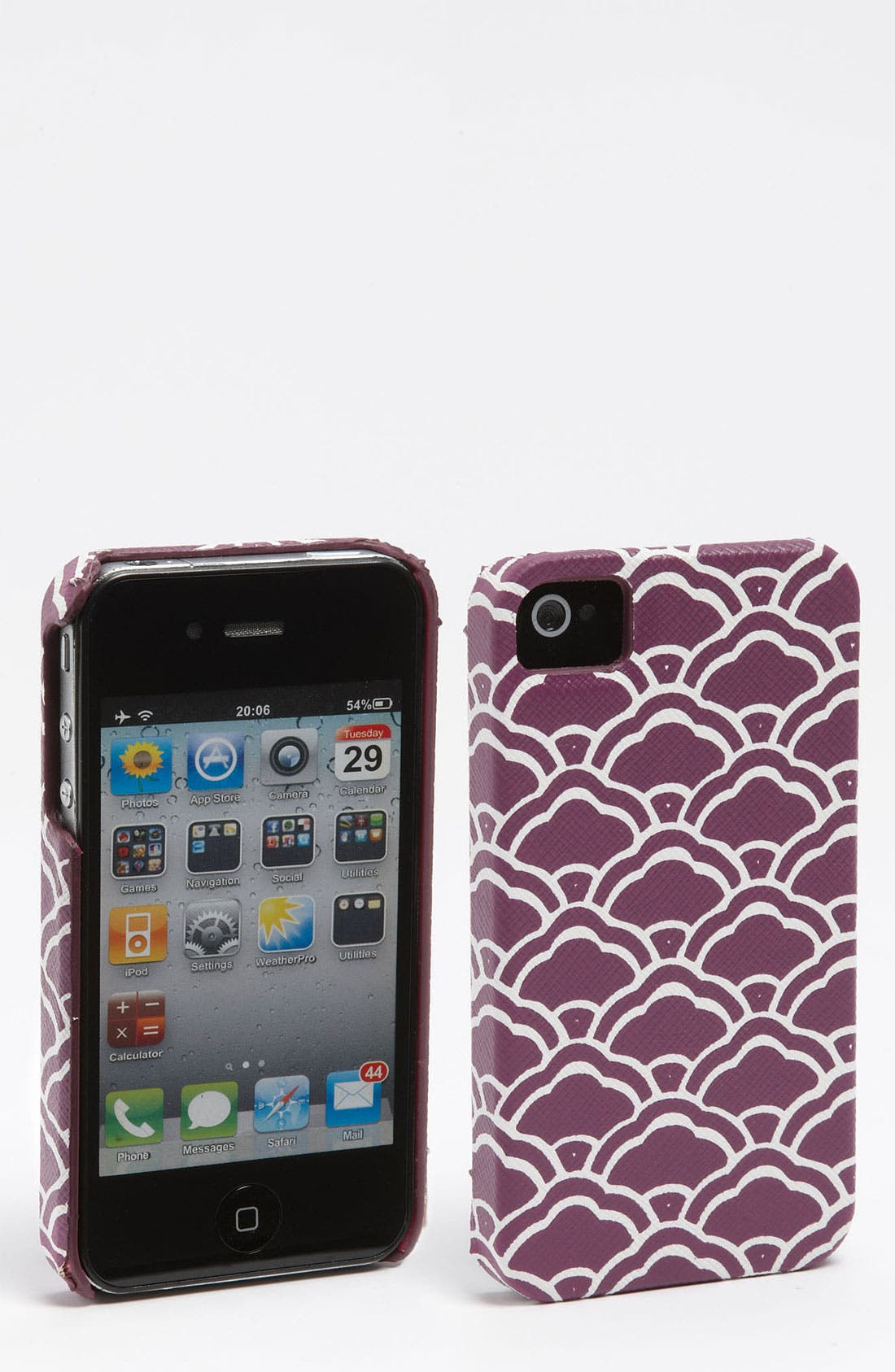 Alternate Image 1 Selected - Diane von Furstenberg Saffiano Printed iPhone 4 & 4S Case