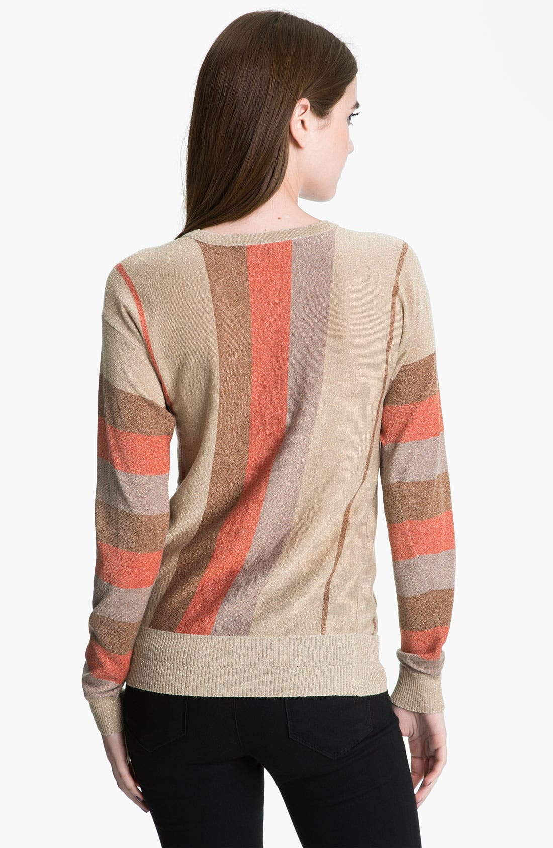 Alternate Image 2  - MARC BY MARC JACOBS 'Lisa' Metallic Stripe Sweater